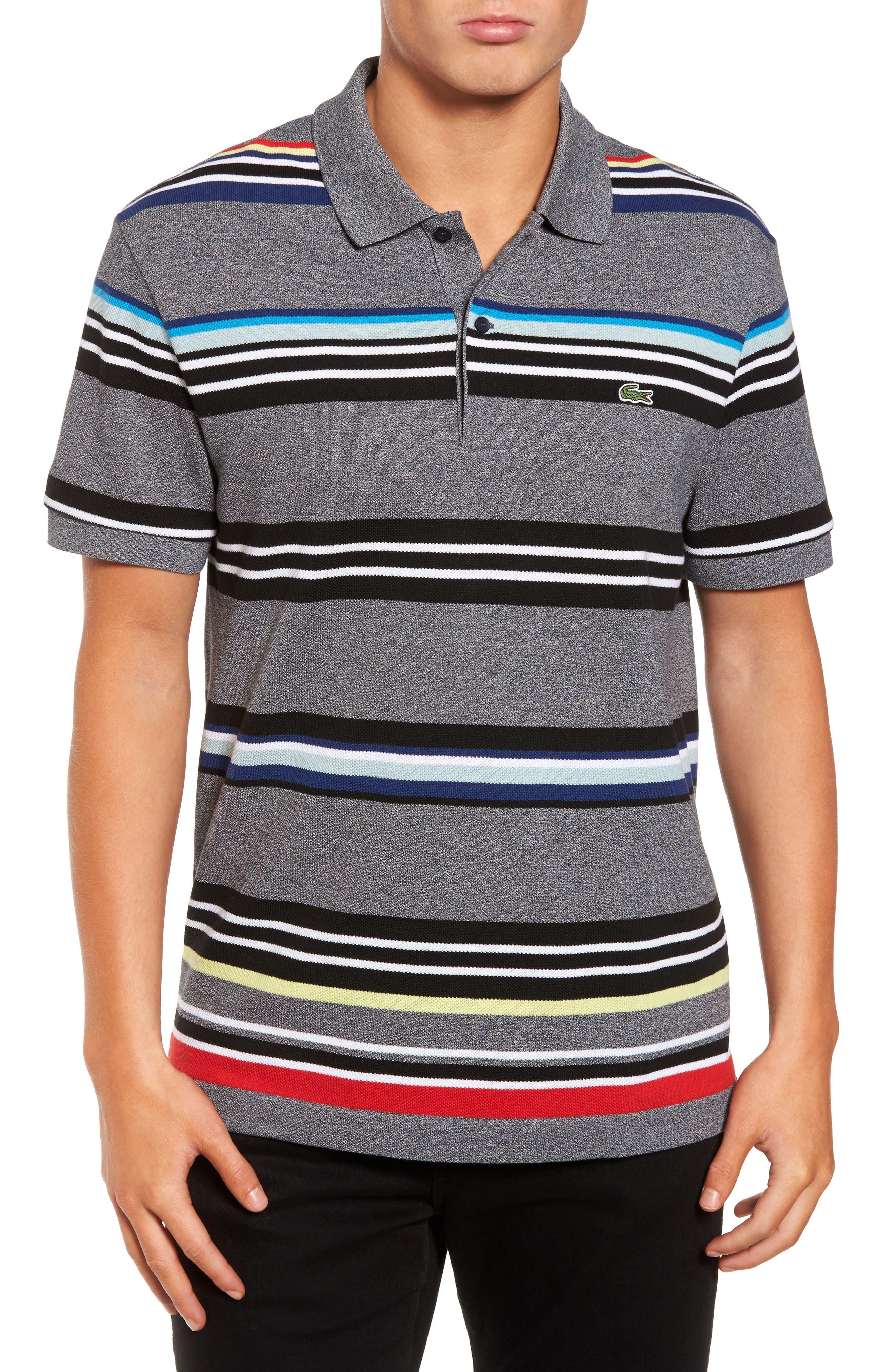 Mouline Stripe Piqué Polo,                         Main,                         color, 060