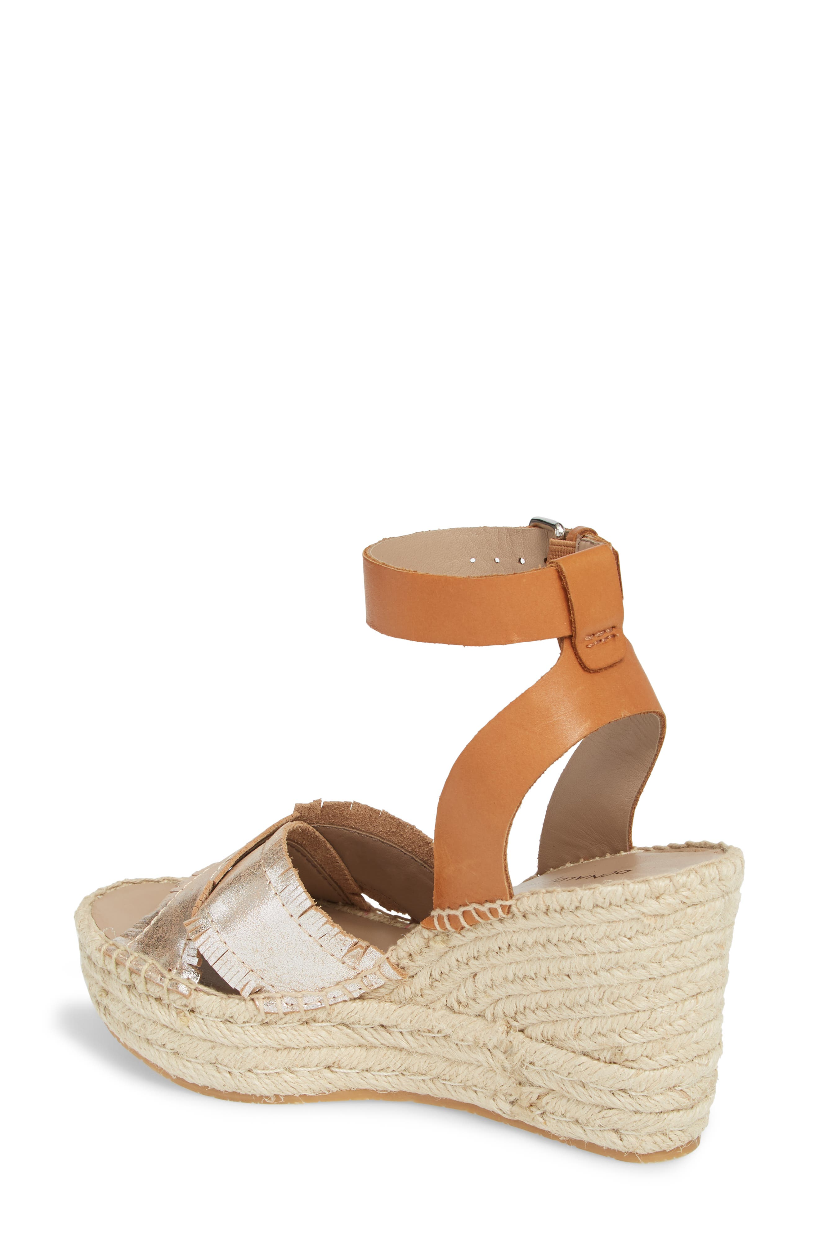 Ines Espadrille Wedge Sandal,                             Alternate thumbnail 2, color,                             SILVER LEATHER