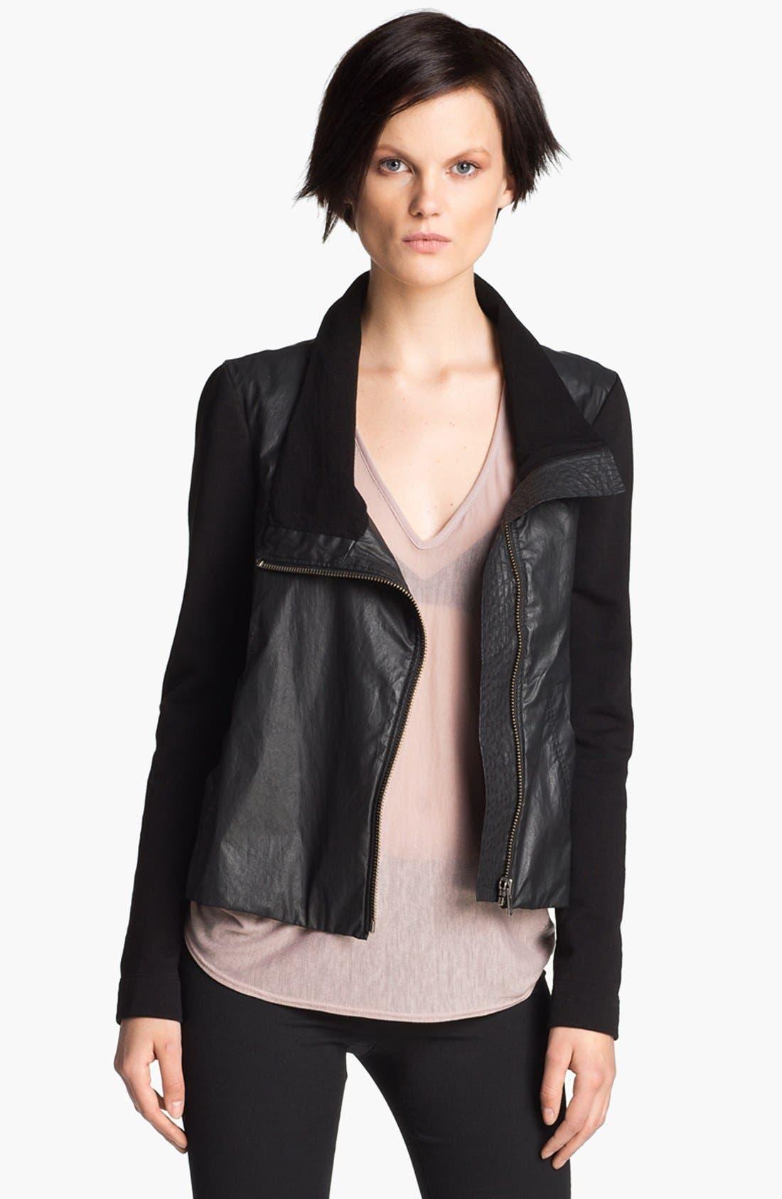 HELMUT Helmut Lang Glazed Cotton Jacket,                         Main,                         color,