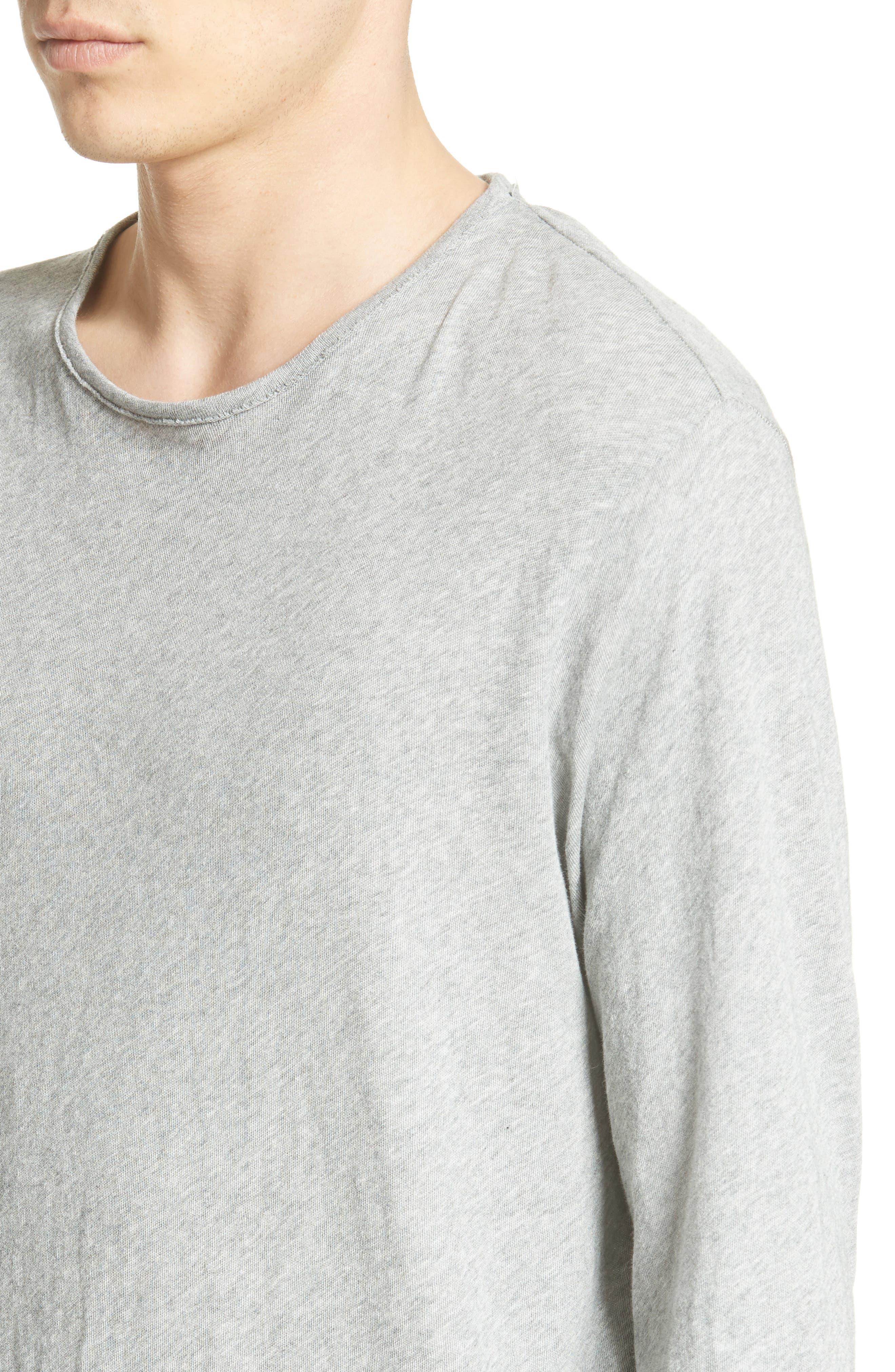 Hartley Cotton & Linen T-Shirt,                             Alternate thumbnail 4, color,                             034