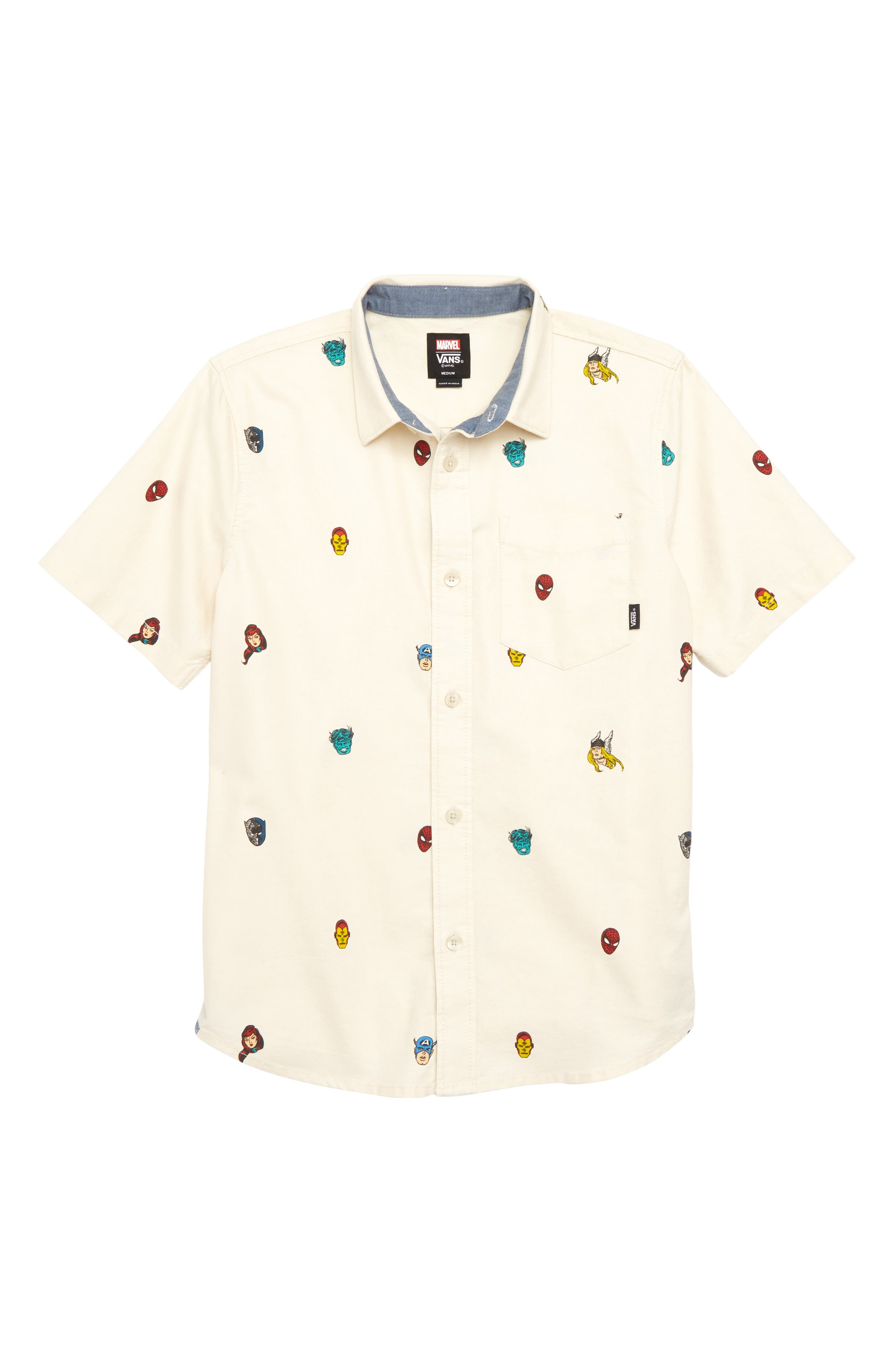 x Marvel<sup>®</sup> Avengers Woven Shirt,                         Main,                         color, 250