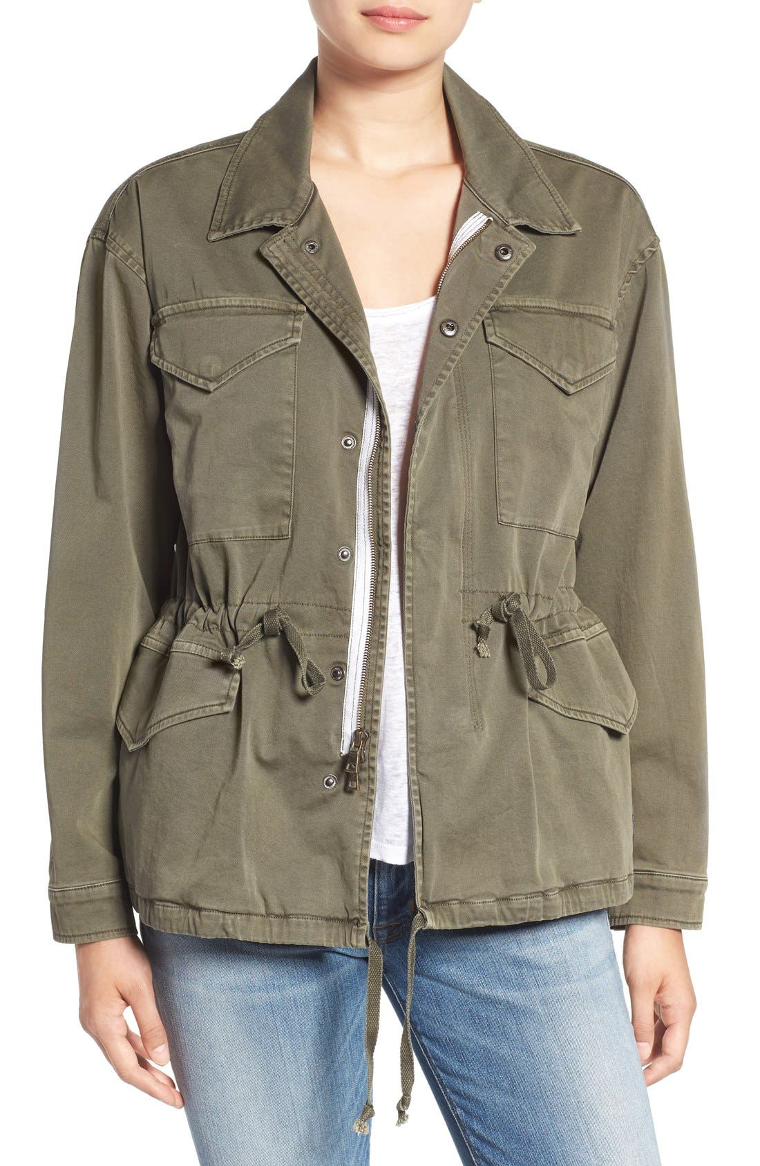 'Sienna' Stretch Cotton Field Jacket,                             Main thumbnail 1, color,                             300