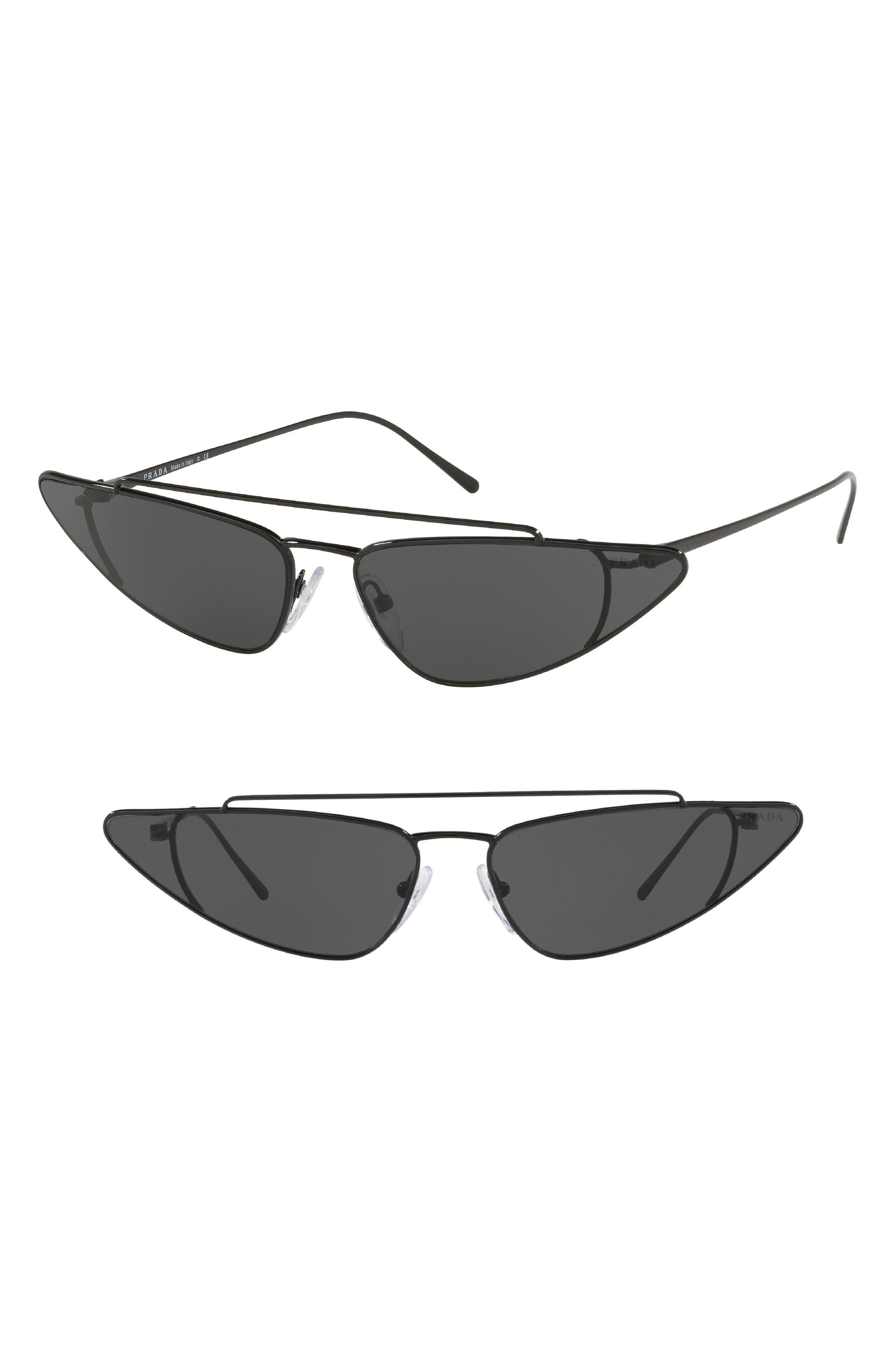 Ultravox 68mm Oversize Cat Eye Sunglasses,                         Main,                         color, BLACK SOLID