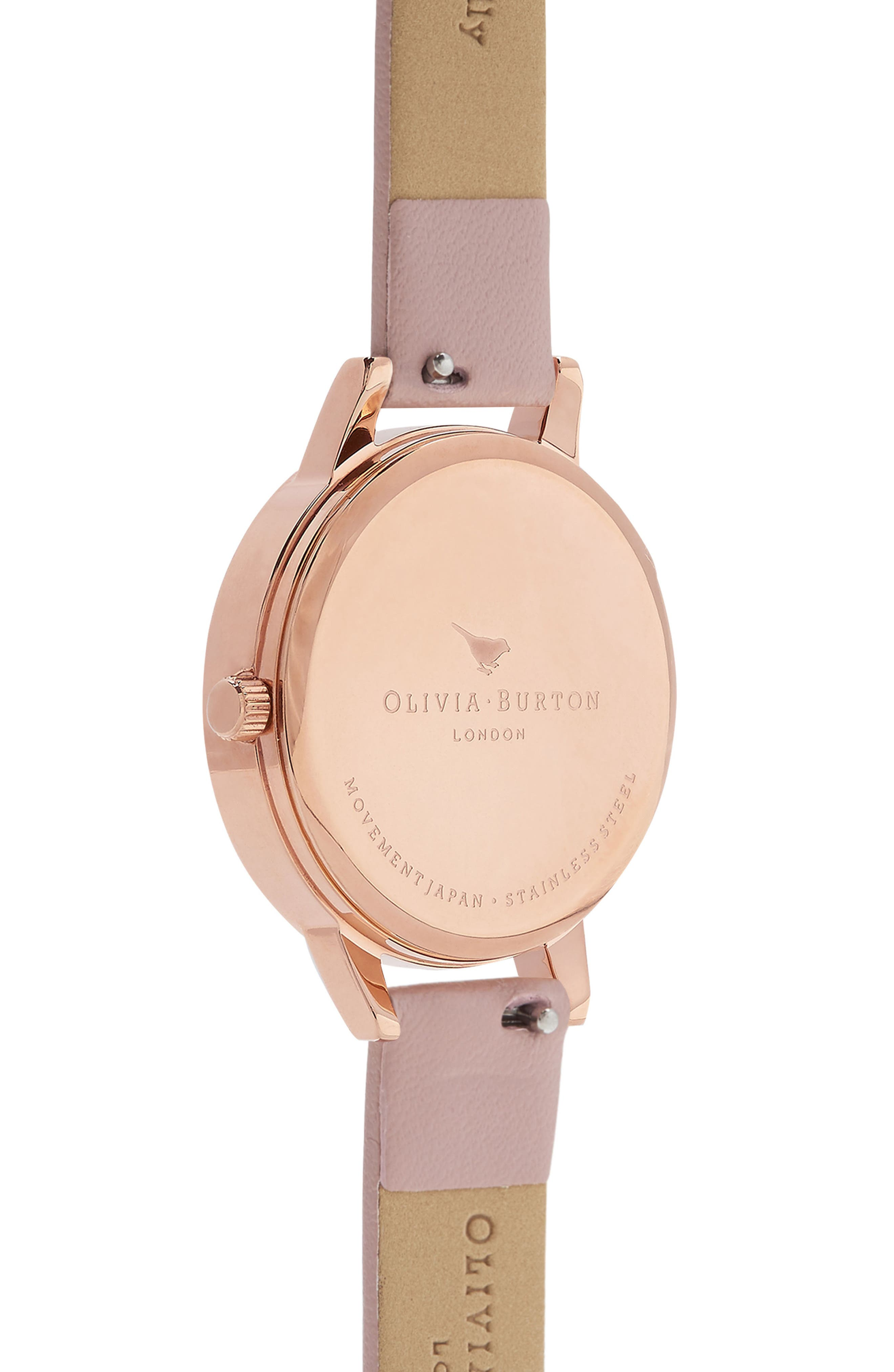 Enchanted Garden Faux Leather Strap Watch, 30mm,                             Alternate thumbnail 2, color,                             SAND/ FLORAL/ ROSE GOLD