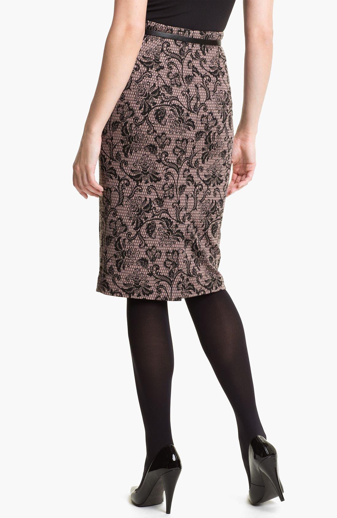 Belted Ponte Skirt,                             Alternate thumbnail 30, color,