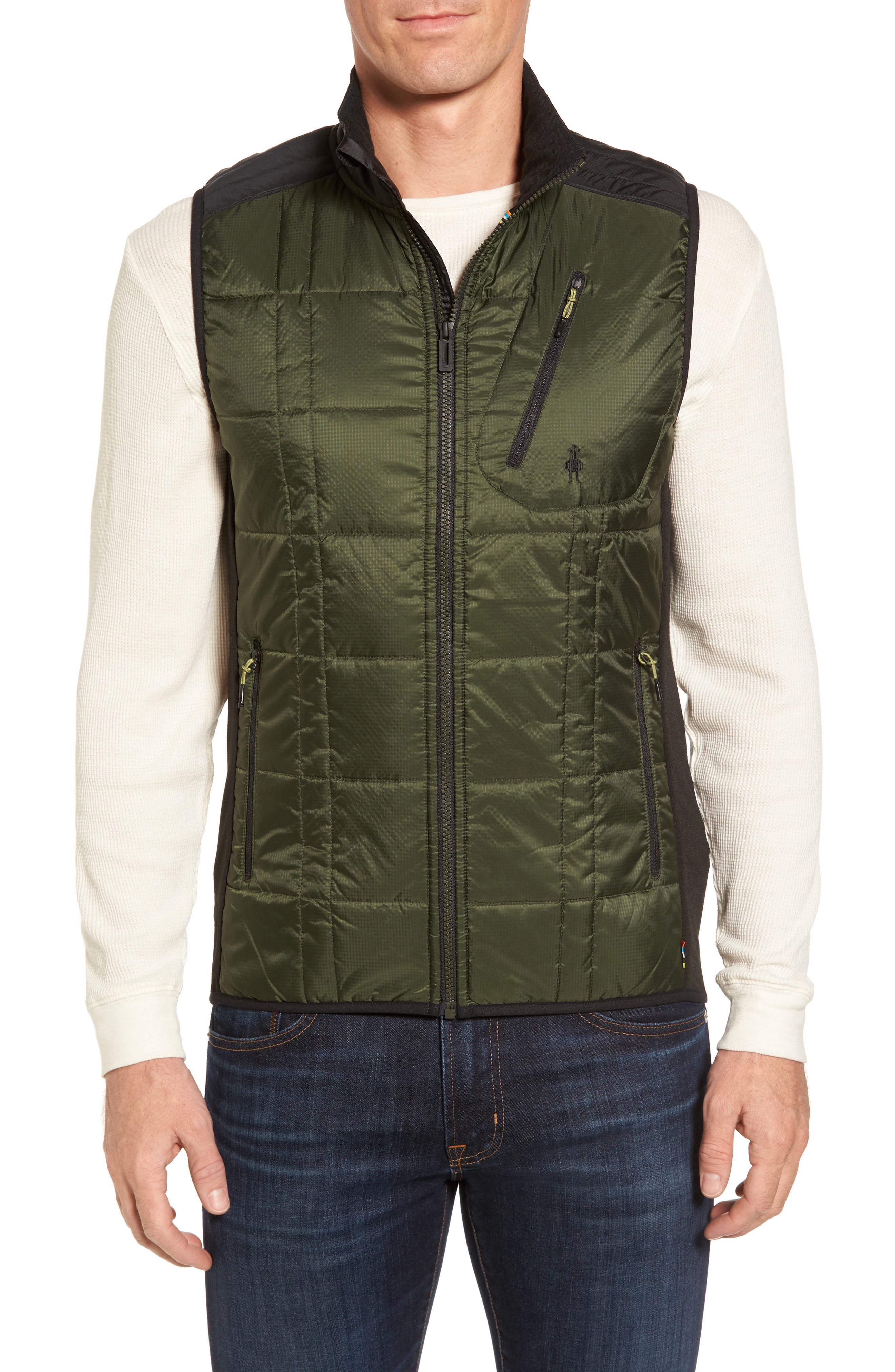'Corbet 120' Quilted Zip Front Vest,                             Main thumbnail 1, color,                             301