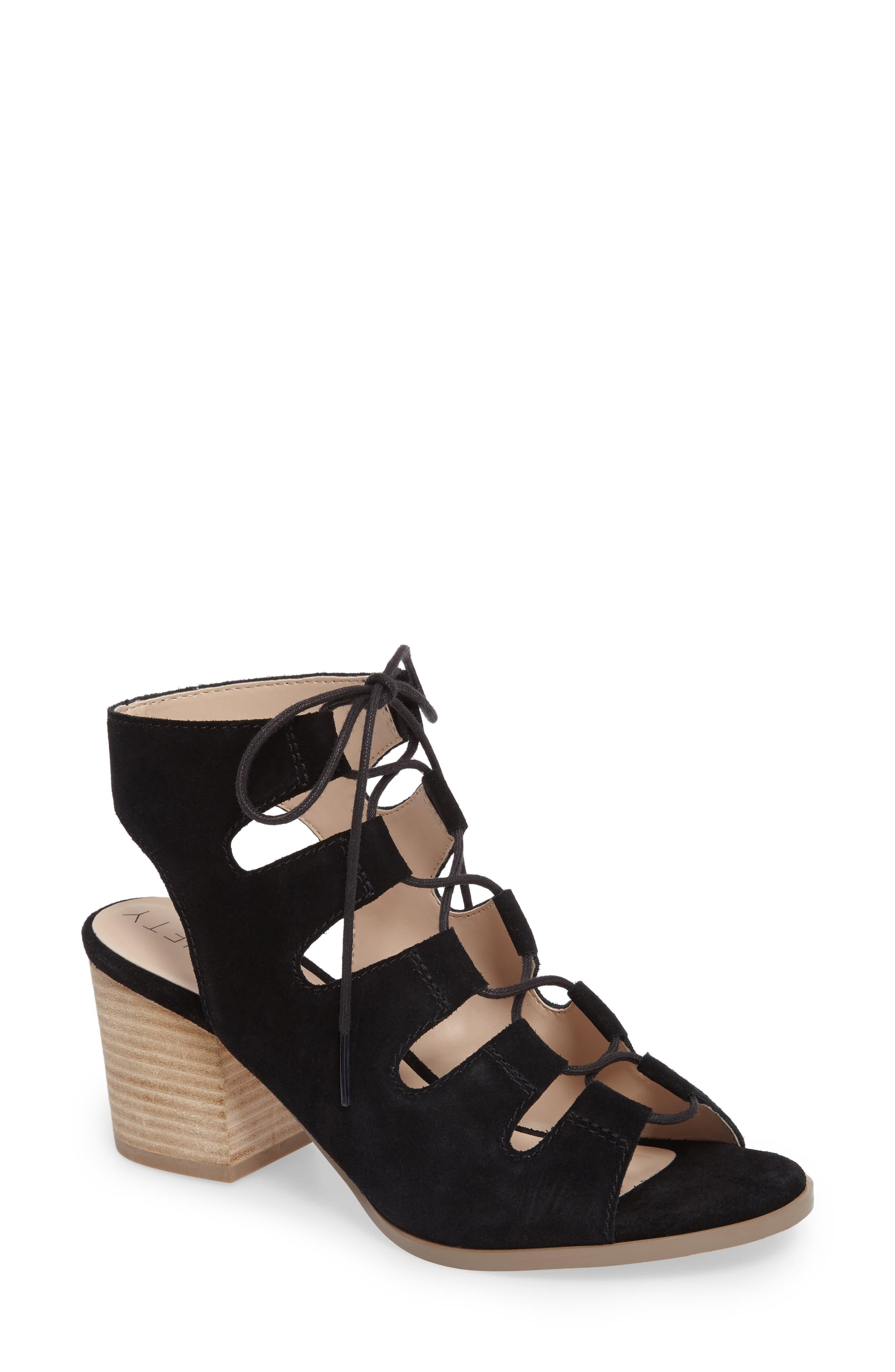 Rae Block Heel Sandal,                             Main thumbnail 1, color,                             003