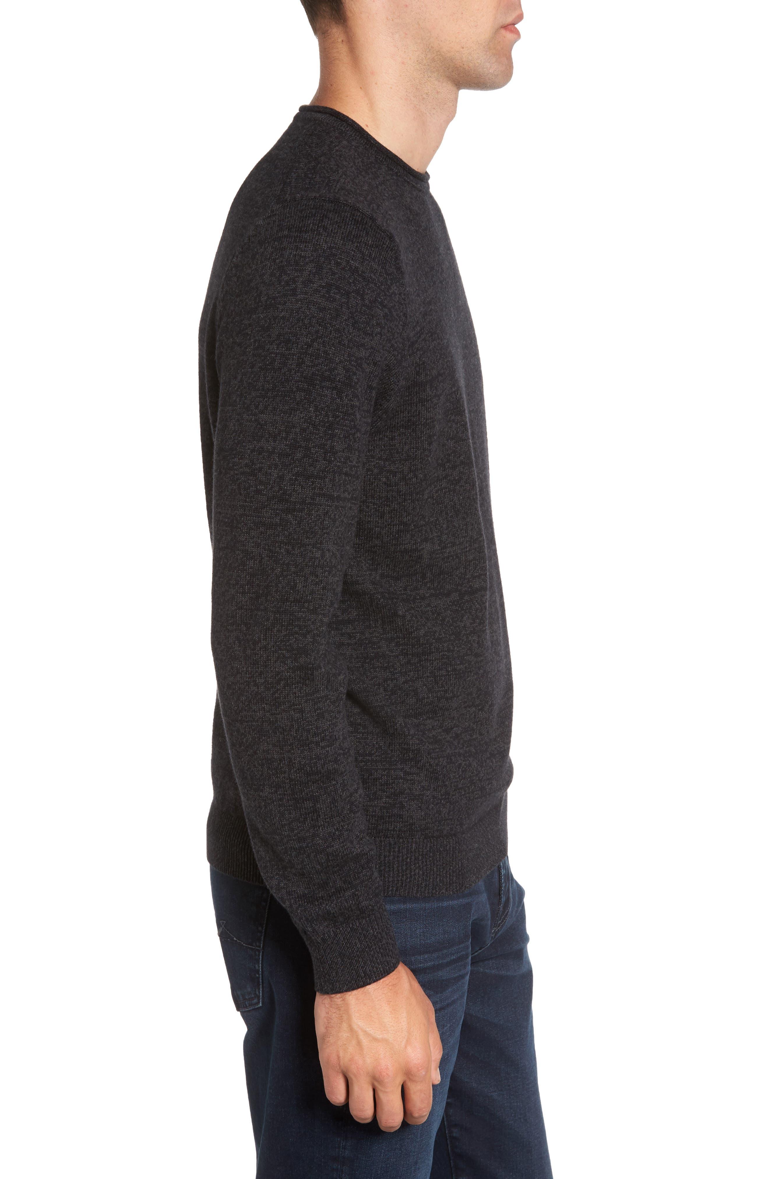 Cotton & Cashmere Roll Neck Sweater,                             Alternate thumbnail 3, color,                             021
