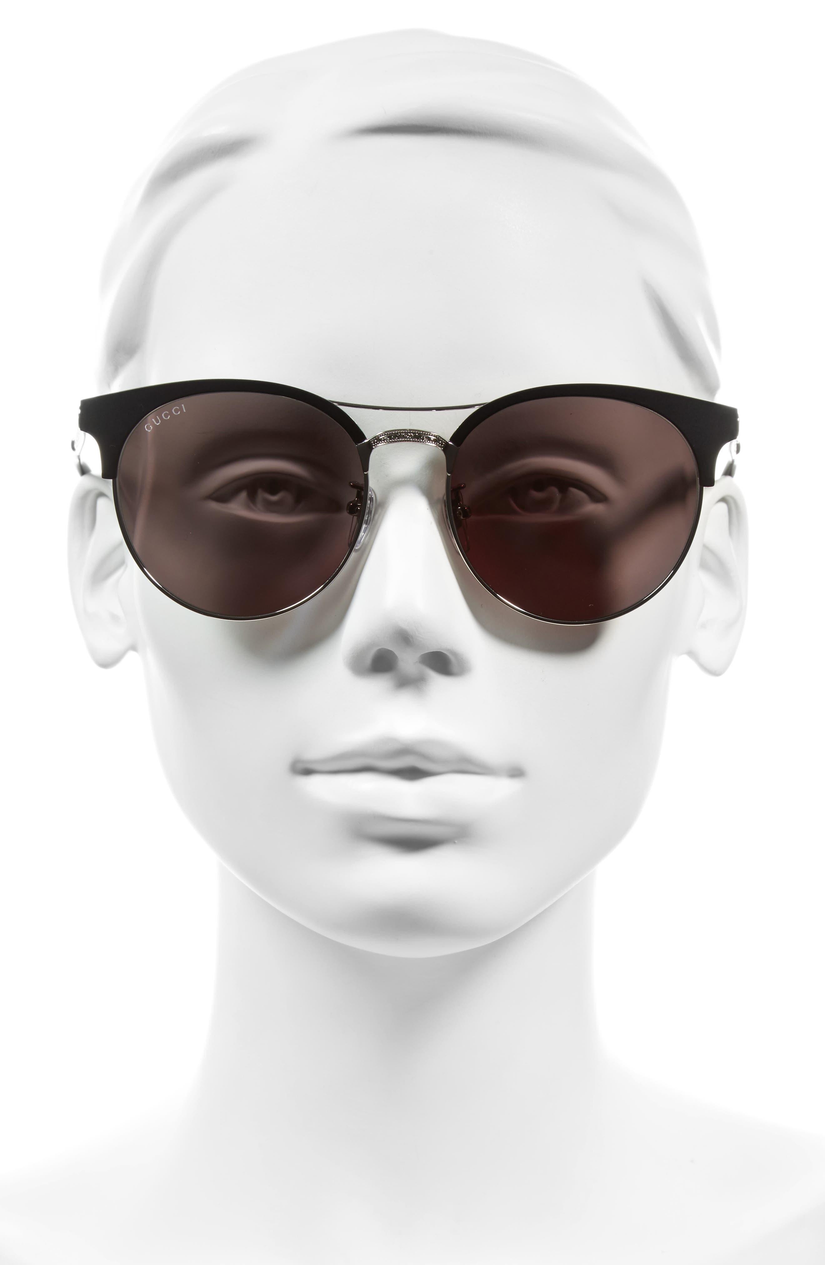 56mm Retro Sunglasses,                             Alternate thumbnail 4, color,