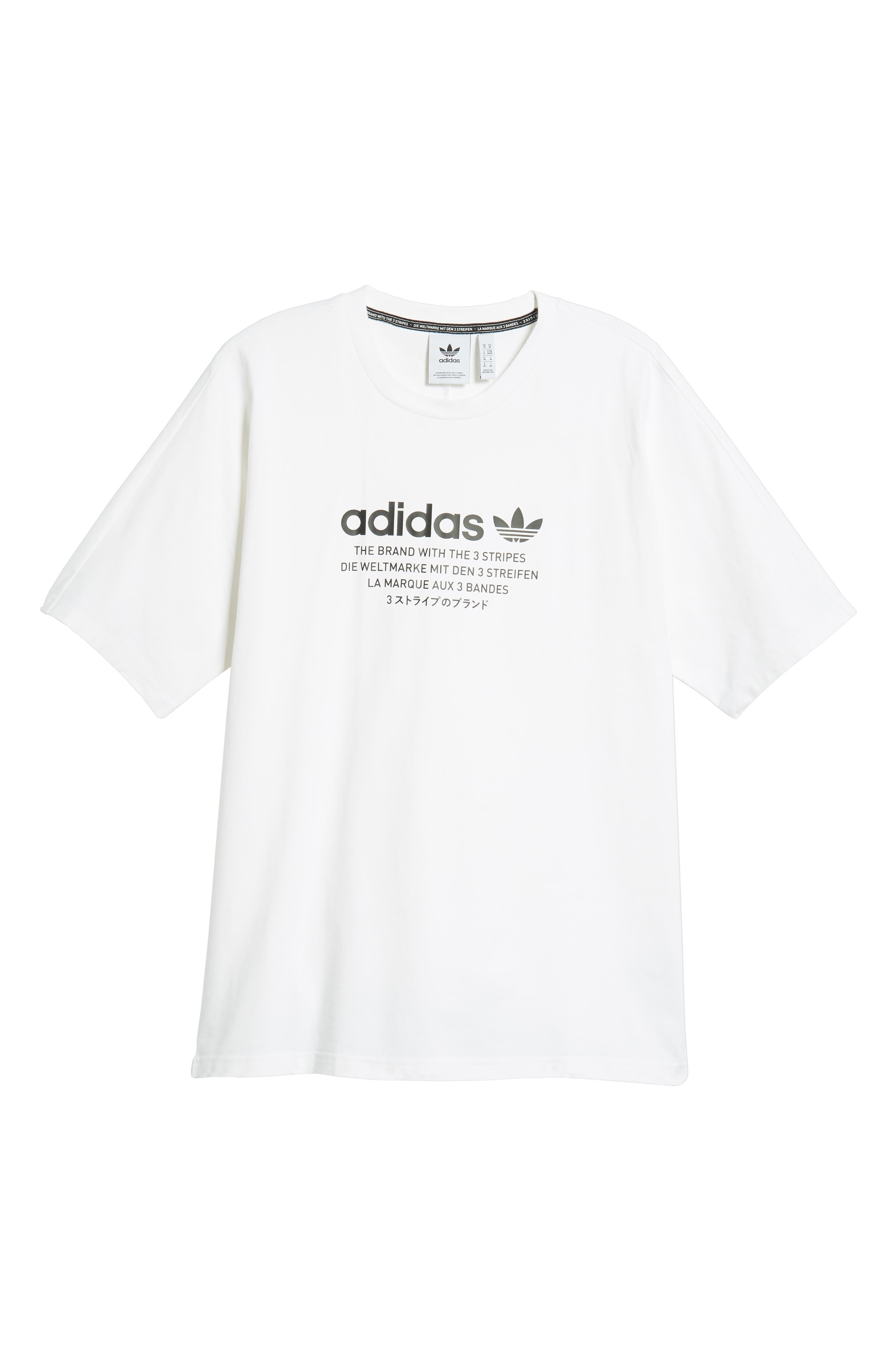 NMD Graphic T-Shirt,                             Alternate thumbnail 6, color,                             WHITE