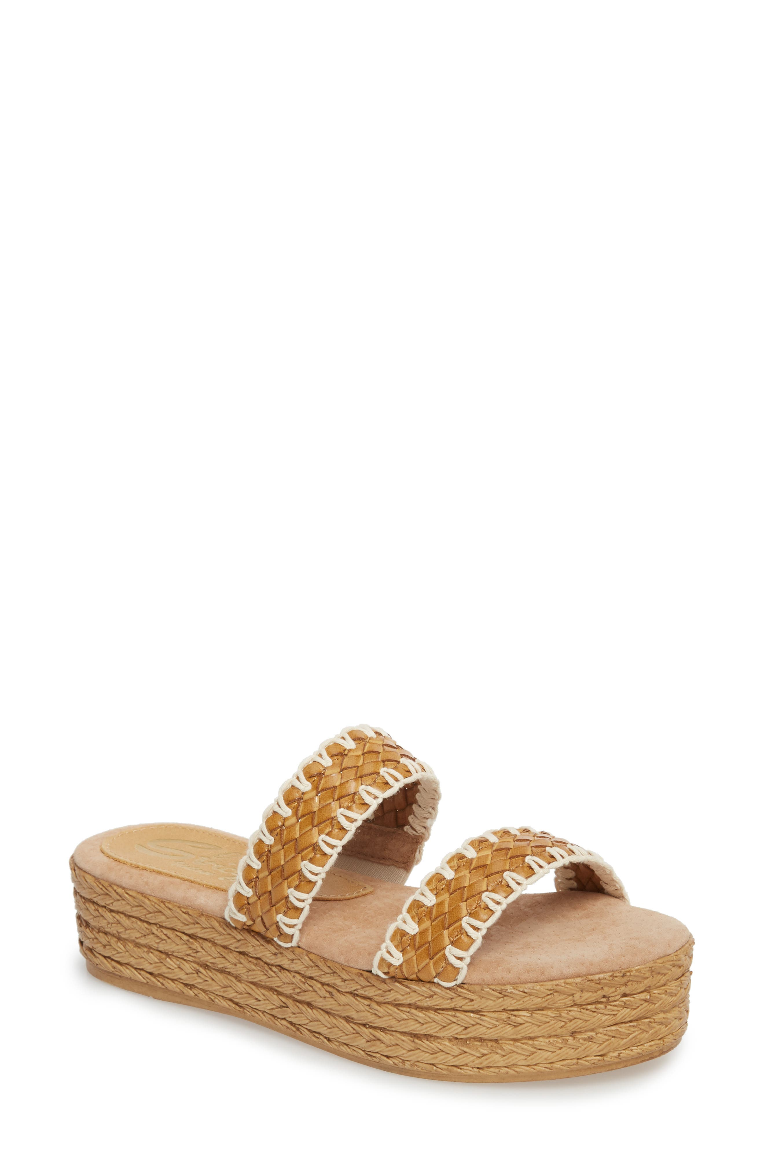 Anette Slide Sandal,                         Main,                         color, TAN