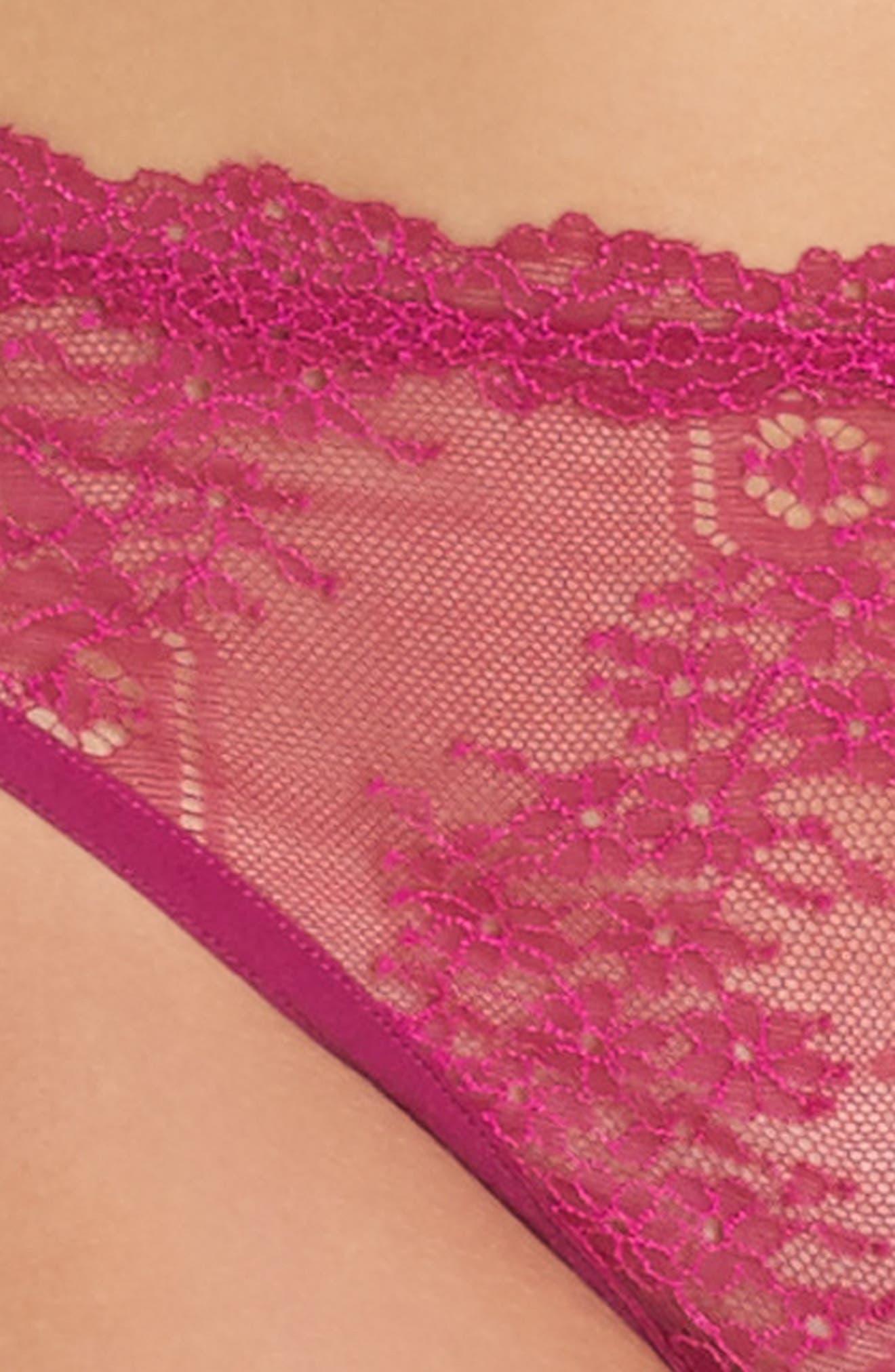 Lace Frills Brazilian Briefs,                             Alternate thumbnail 8, color,