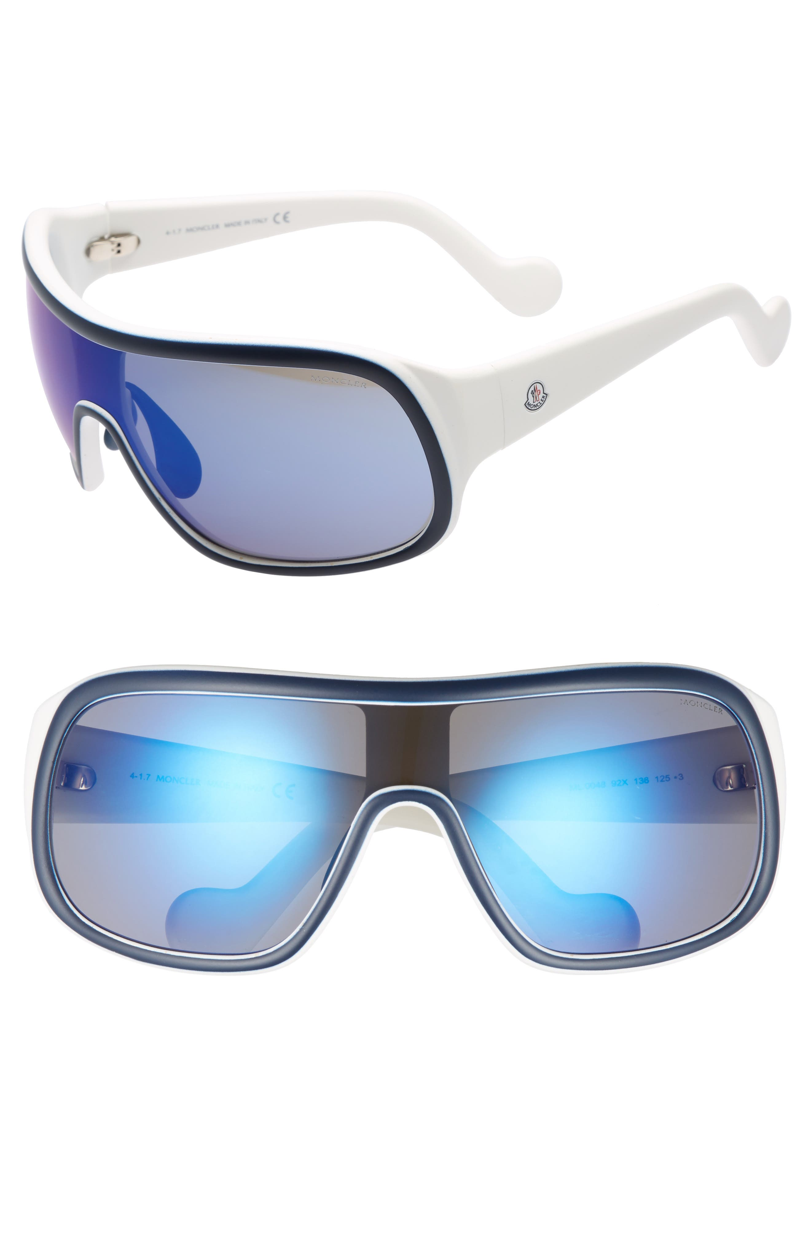 Sport Aviator 72mm Sunglasses,                         Main,                         color, 480