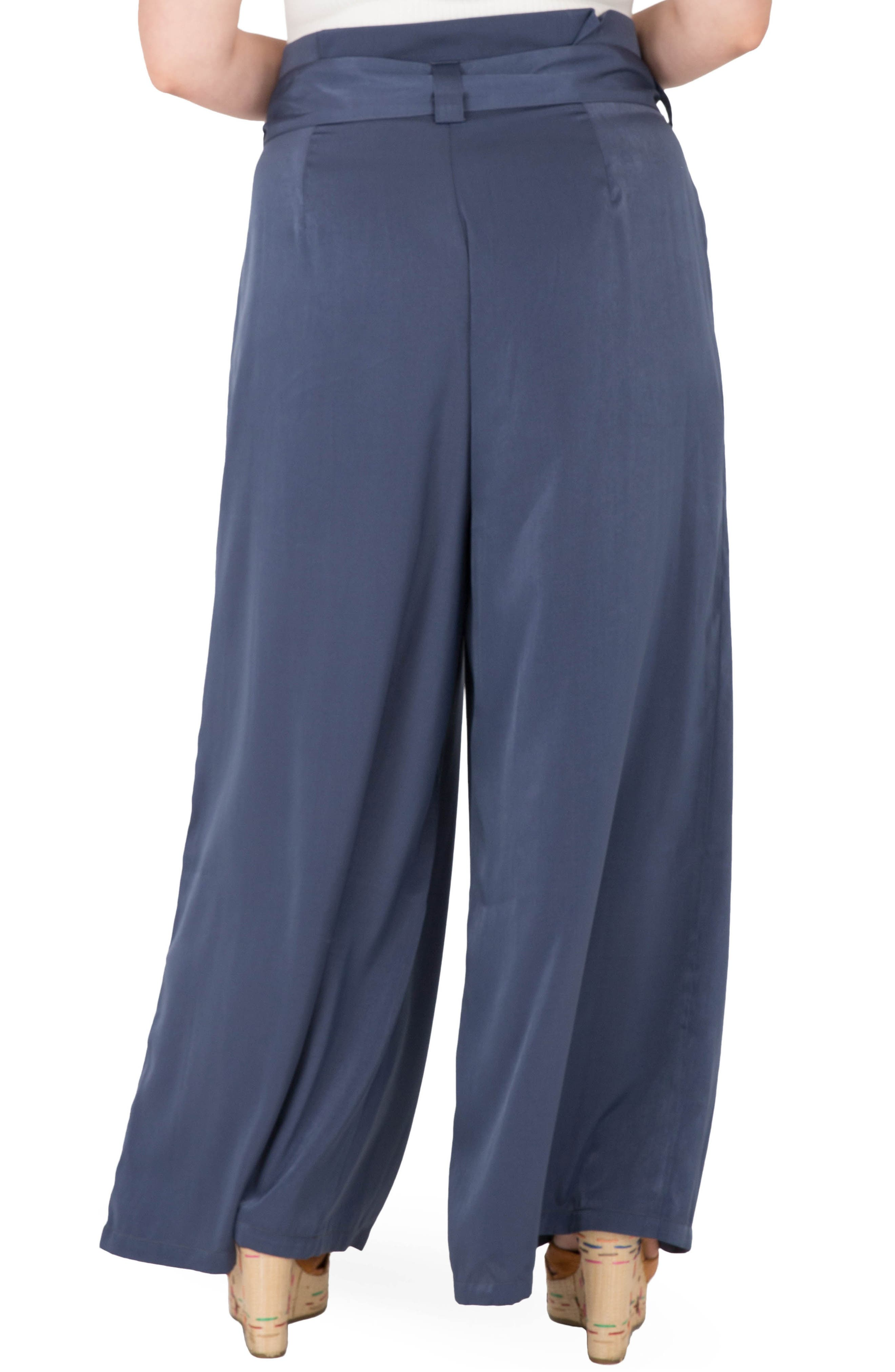 Sue Wide Leg Pants,                             Alternate thumbnail 2, color,                             NAVY