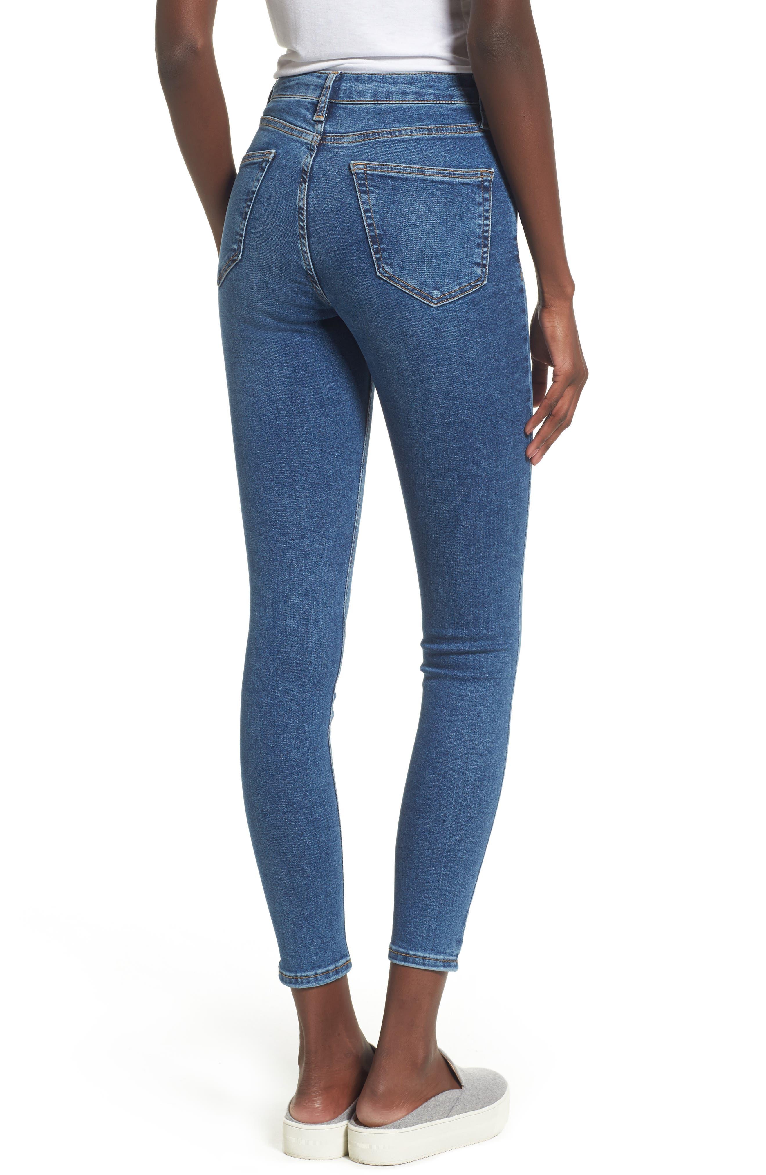 Jamie Indigo High Waist Skinny Jeans,                             Alternate thumbnail 2, color,                             401