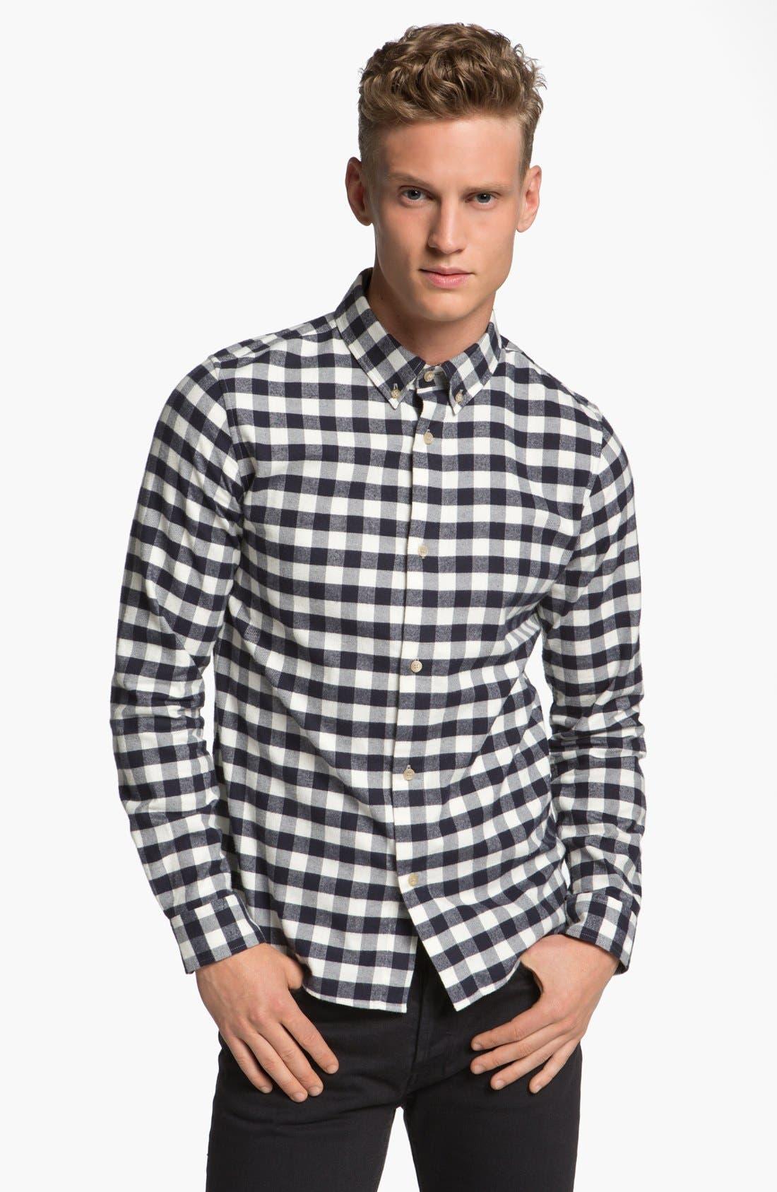 Check Cotton Flannel Shirt,                             Main thumbnail 1, color,                             420