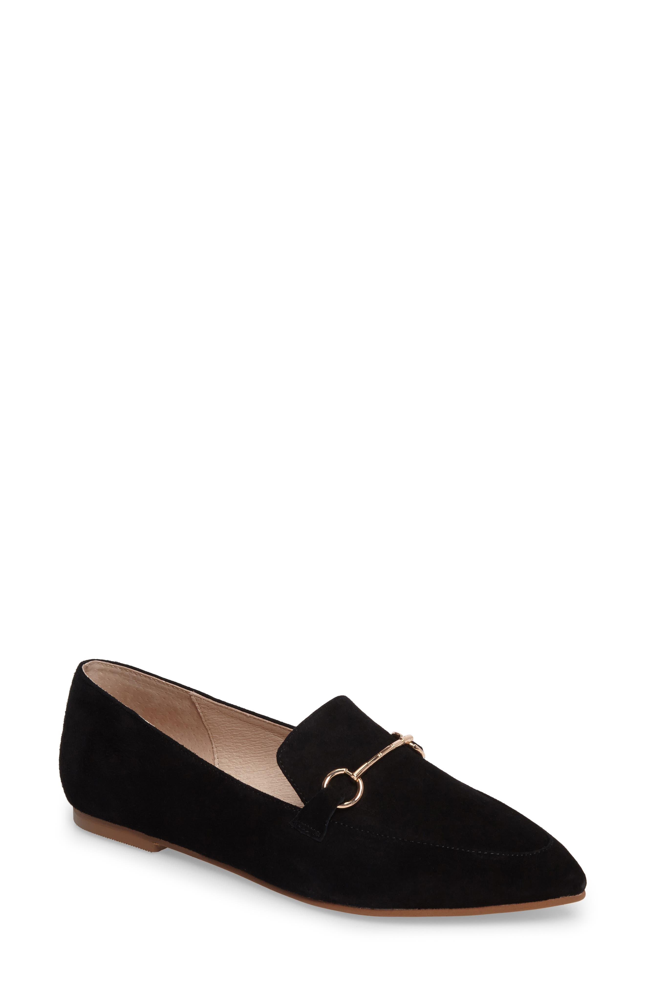 Cambrie Loafer Flat,                             Main thumbnail 1, color,                             001