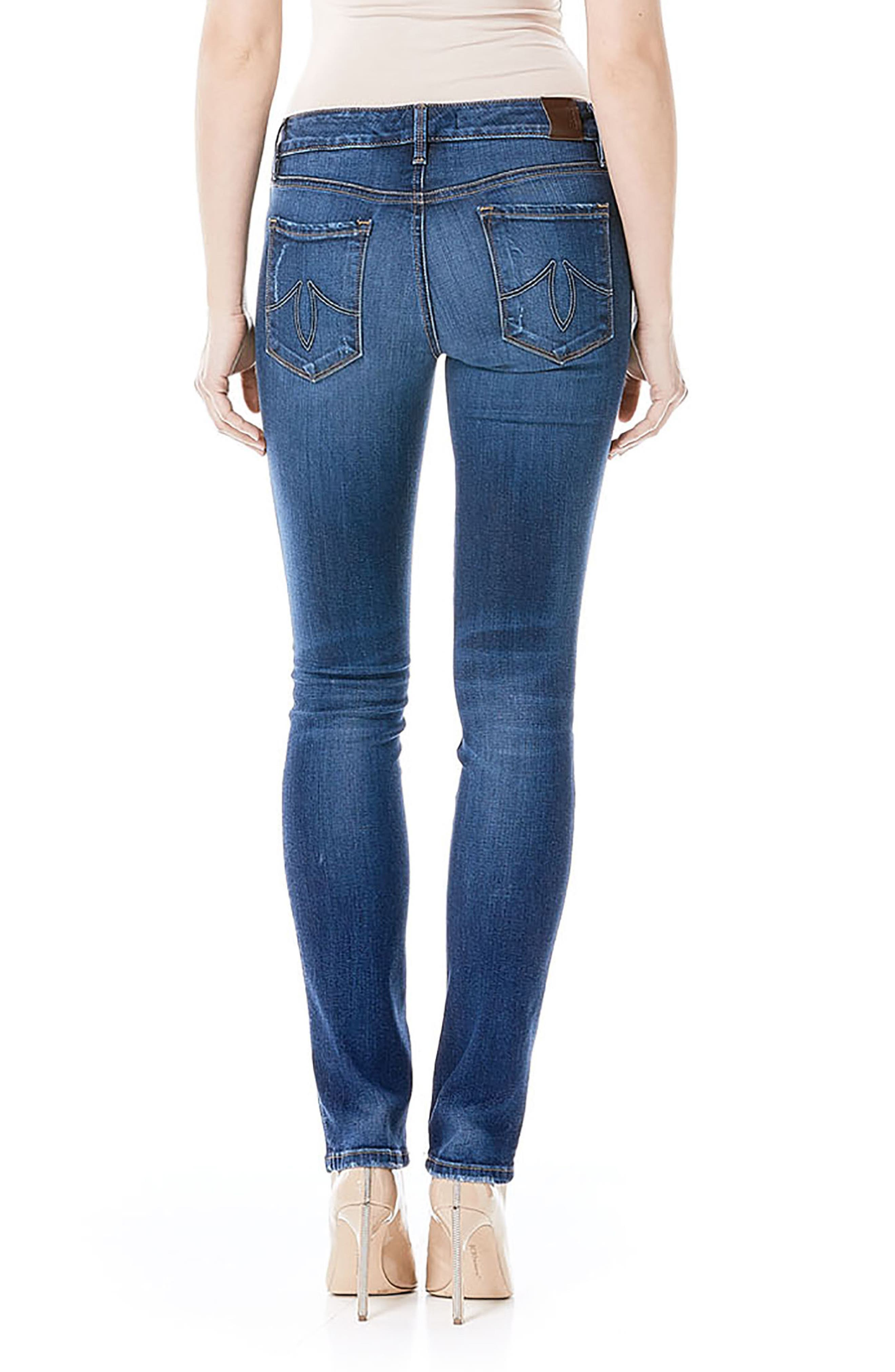 Lily Stretch Skinny Jeans,                             Alternate thumbnail 8, color,