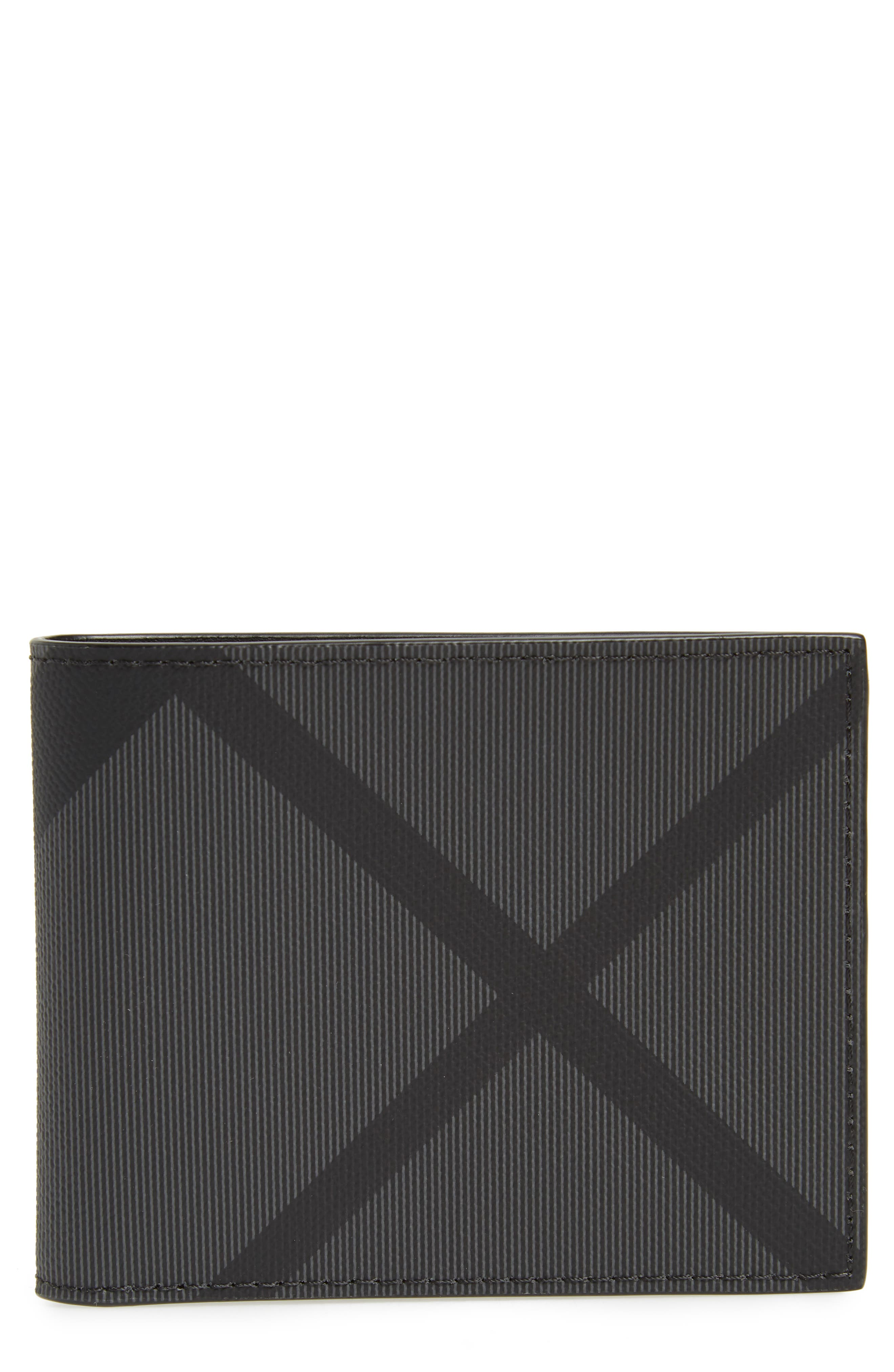 Check Wallet,                             Main thumbnail 1, color,                             CHARCOAL/ BLACK