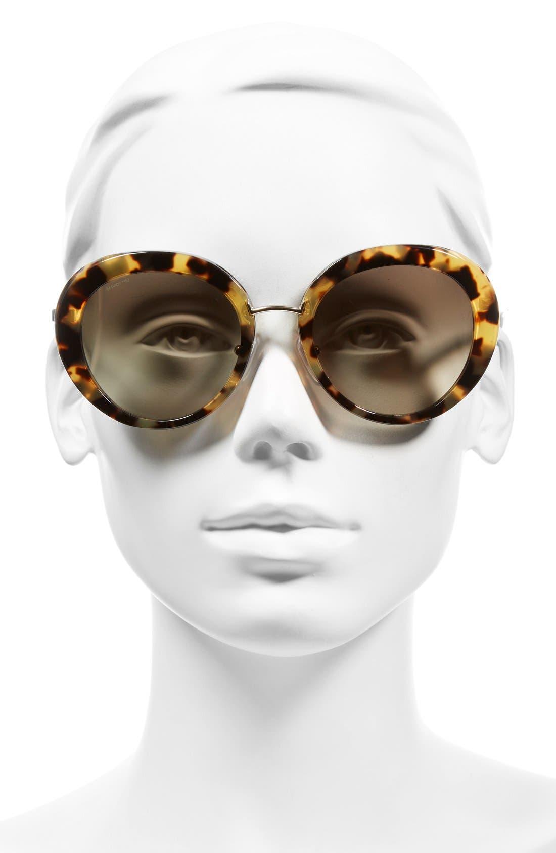 55mm Round Sunglasses,                             Alternate thumbnail 2, color,                             200