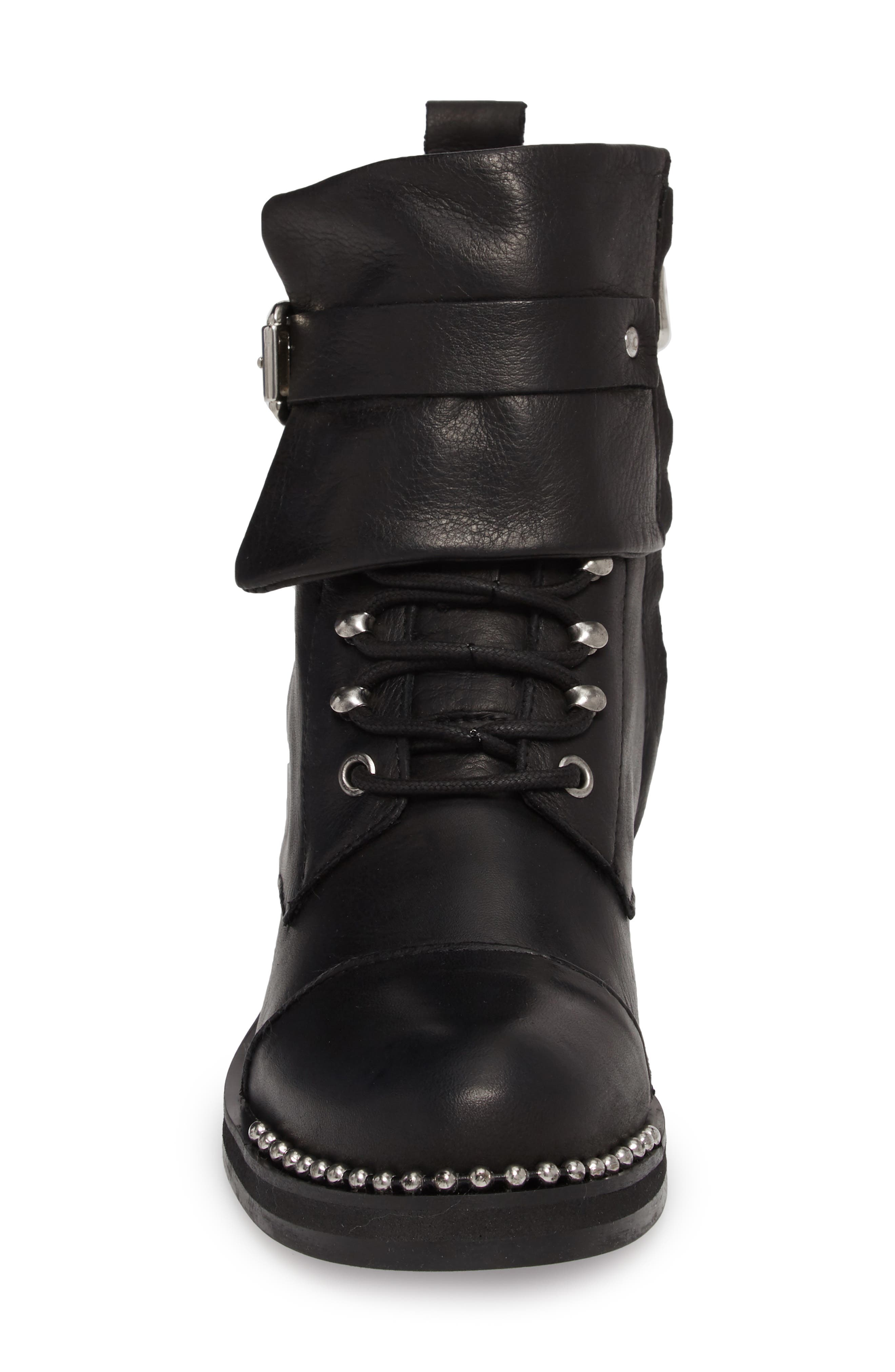 Scorch Boot,                             Alternate thumbnail 4, color,                             BLACK LEATHER
