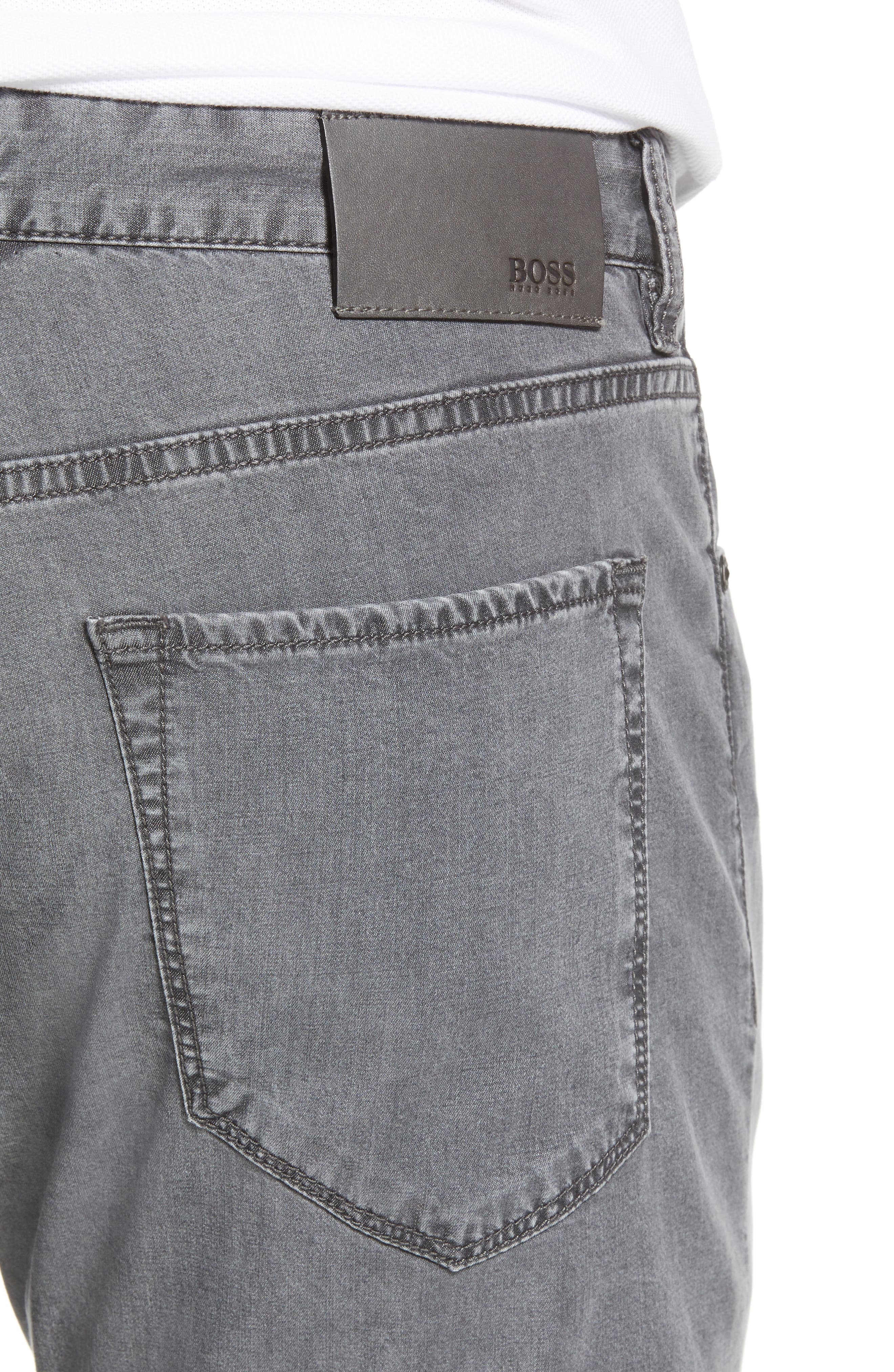 Maine Classic Fit Jeans,                             Alternate thumbnail 4, color,                             GREY