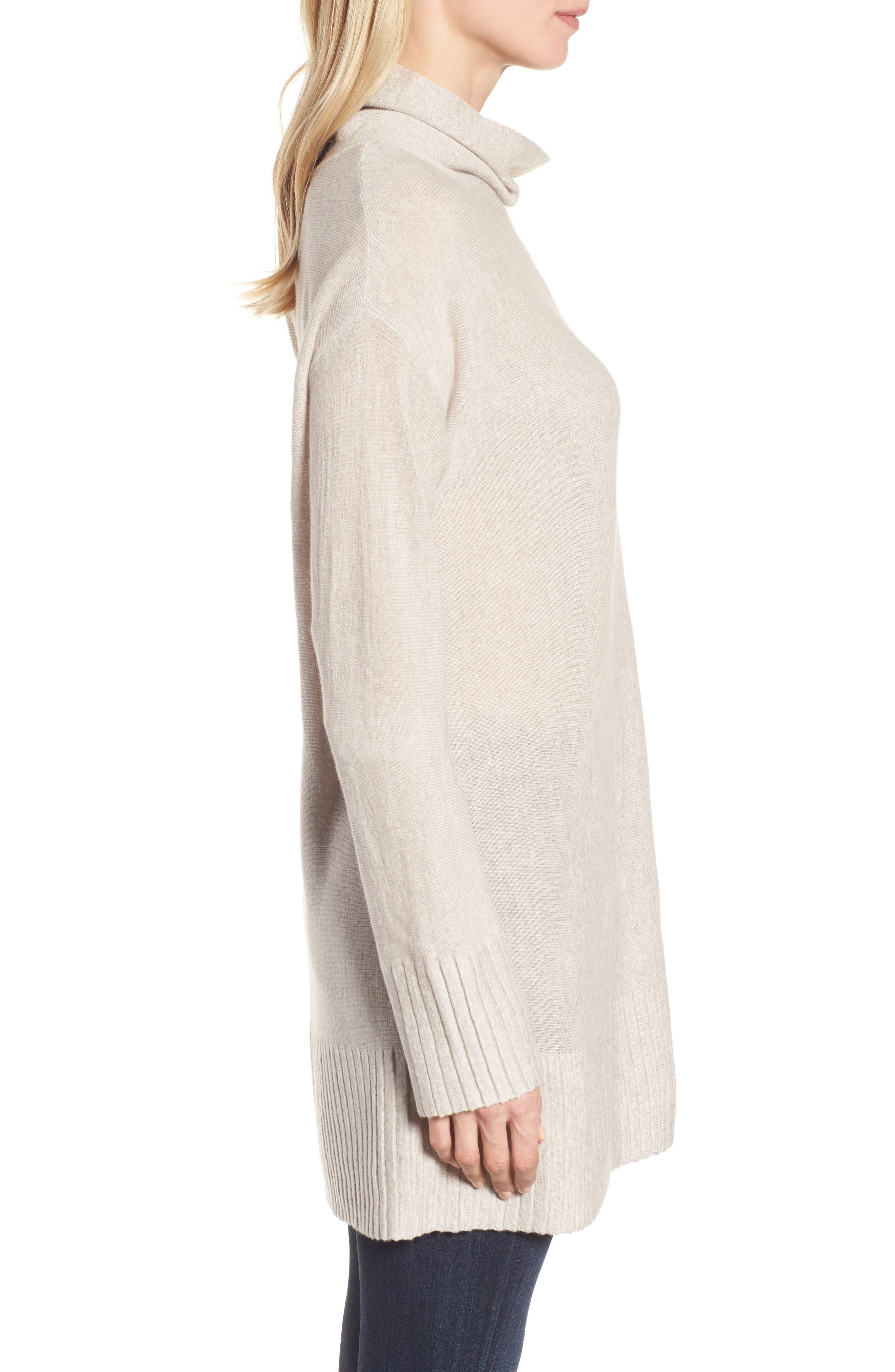 Merino Wool Tunic Sweater,                             Alternate thumbnail 7, color,