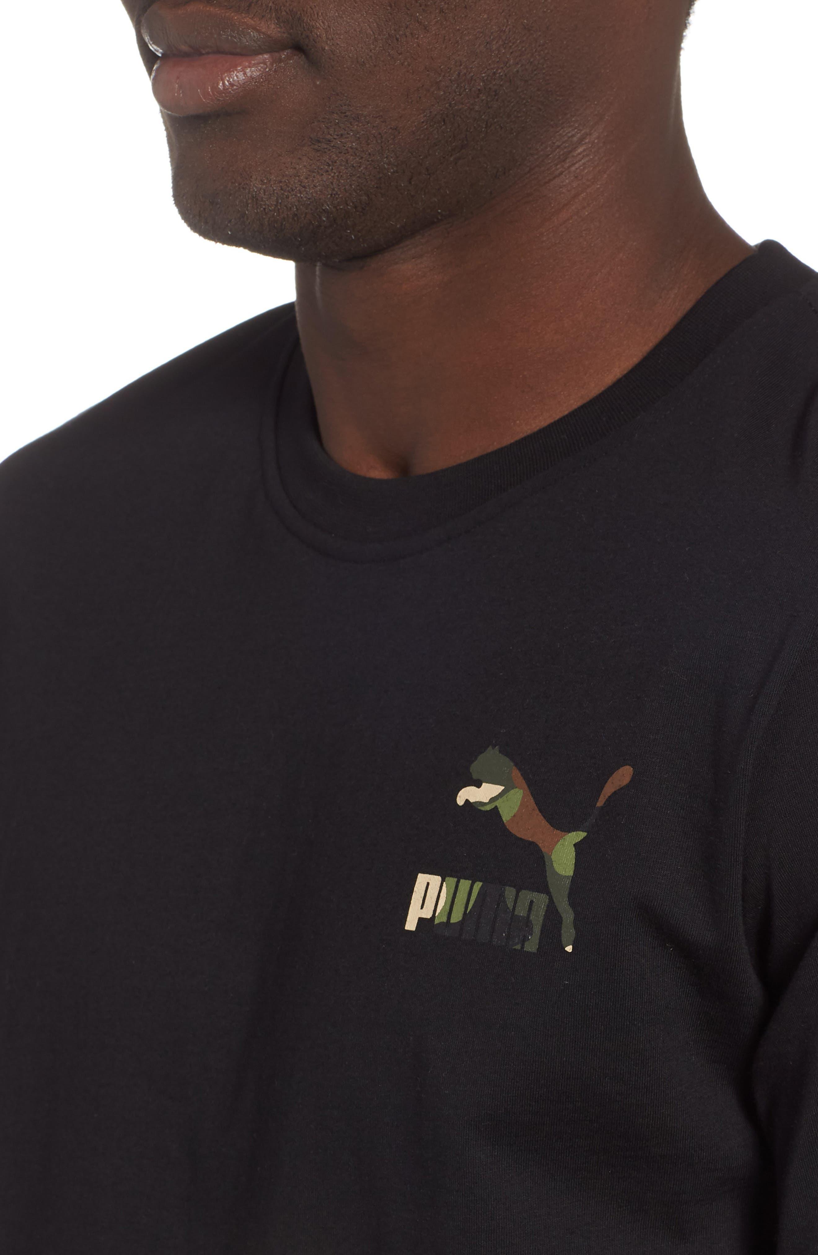 Wild Pack Logo Graphic T-Shirt,                             Alternate thumbnail 4, color,                             PUMA BLACK