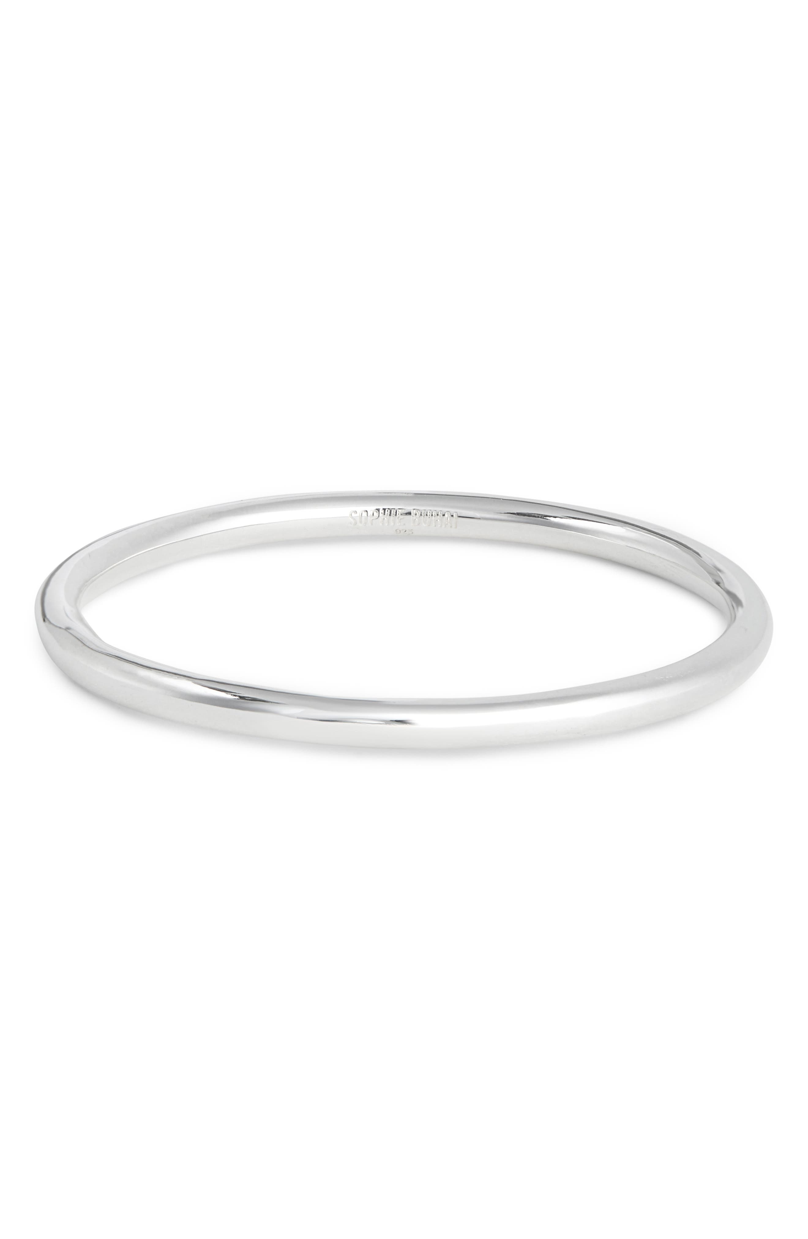 Circle Bangle,                             Main thumbnail 1, color,                             SILVER