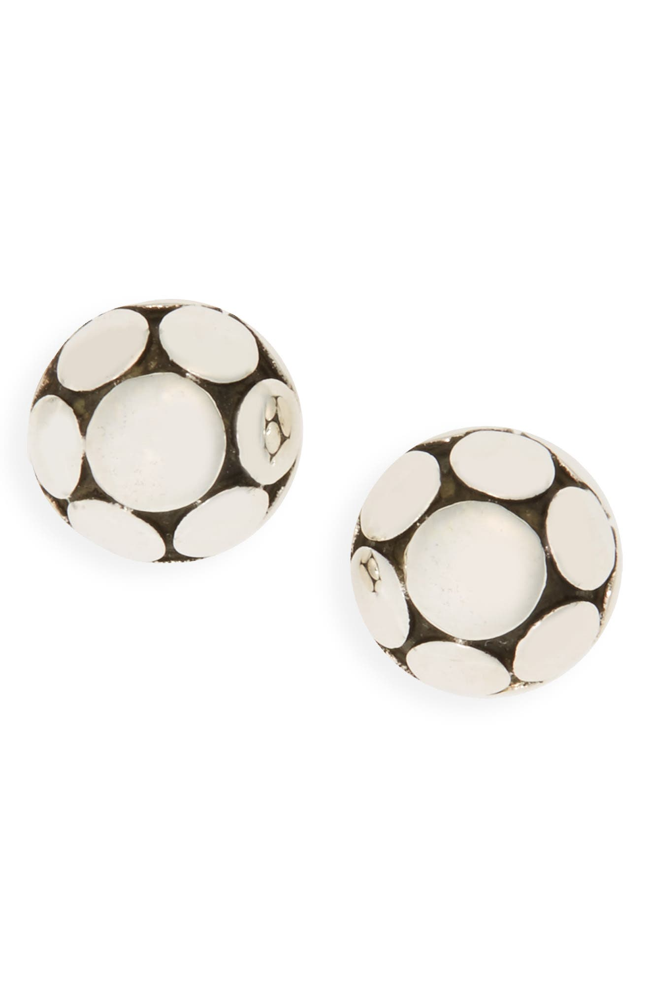 Dot Small Stud Earrings,                         Main,                         color, SILVER