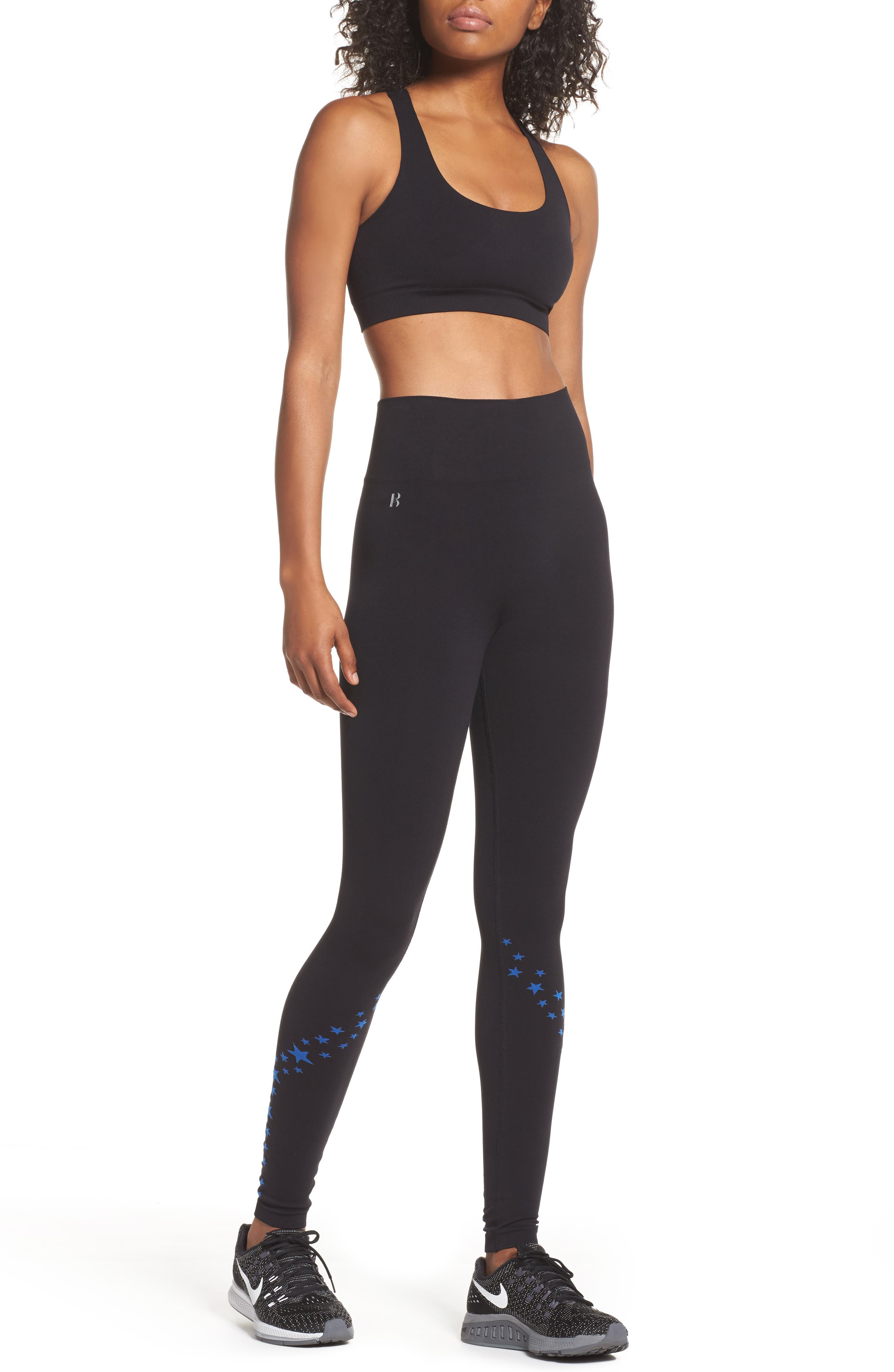 BoomBoom Athletic Seamless Star Sports Bra,                             Alternate thumbnail 8, color,                             005