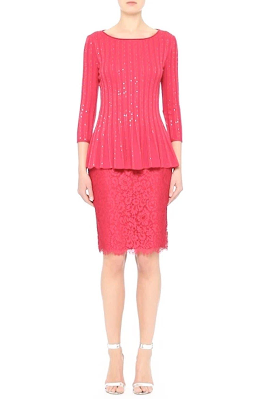 Double Scallop Paisley Lace Skirt,                             Alternate thumbnail 7, color,                             601