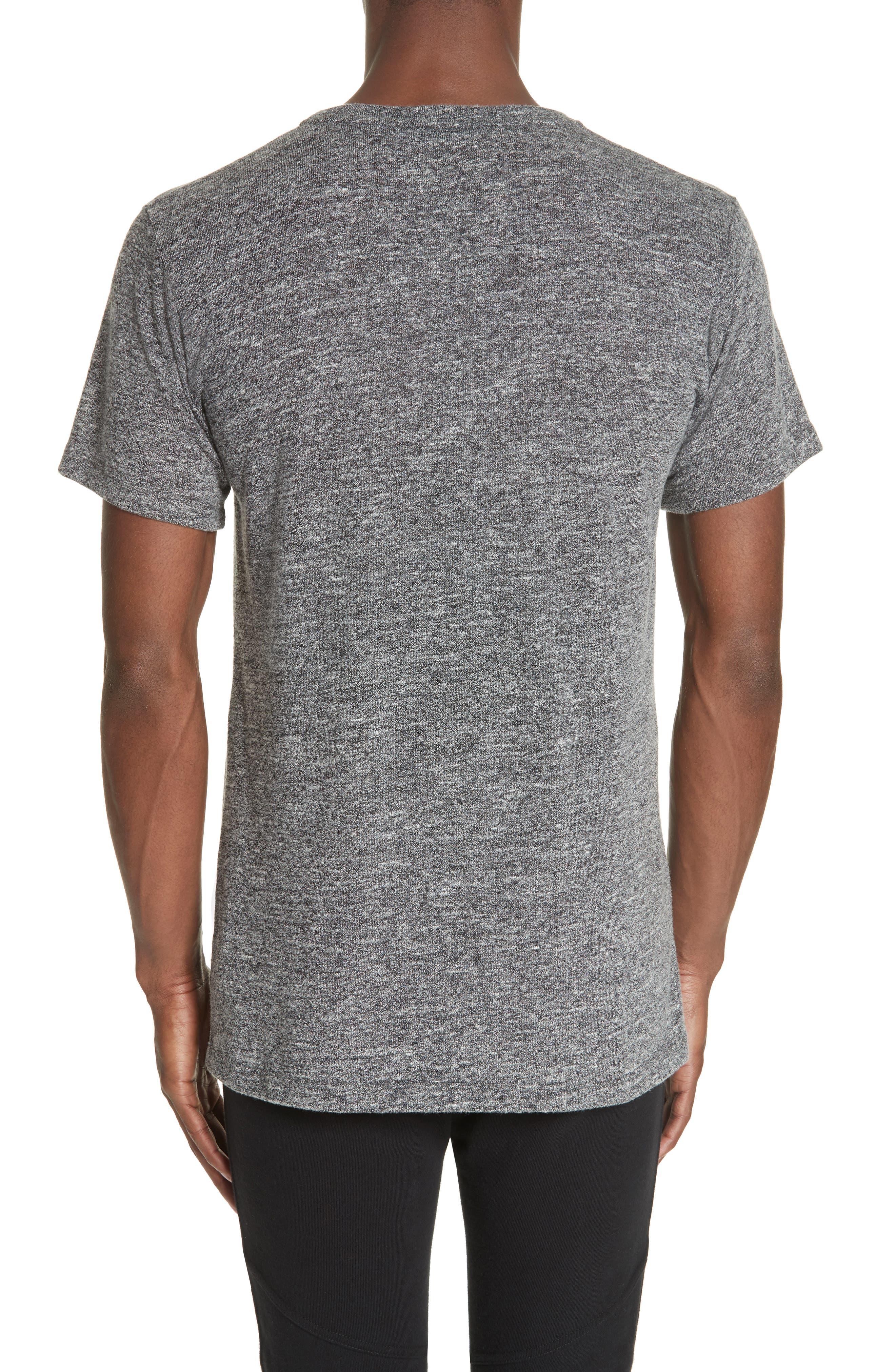 Classic Co-Mix Crew T-Shirt,                             Alternate thumbnail 2, color,                             CHARCOAL