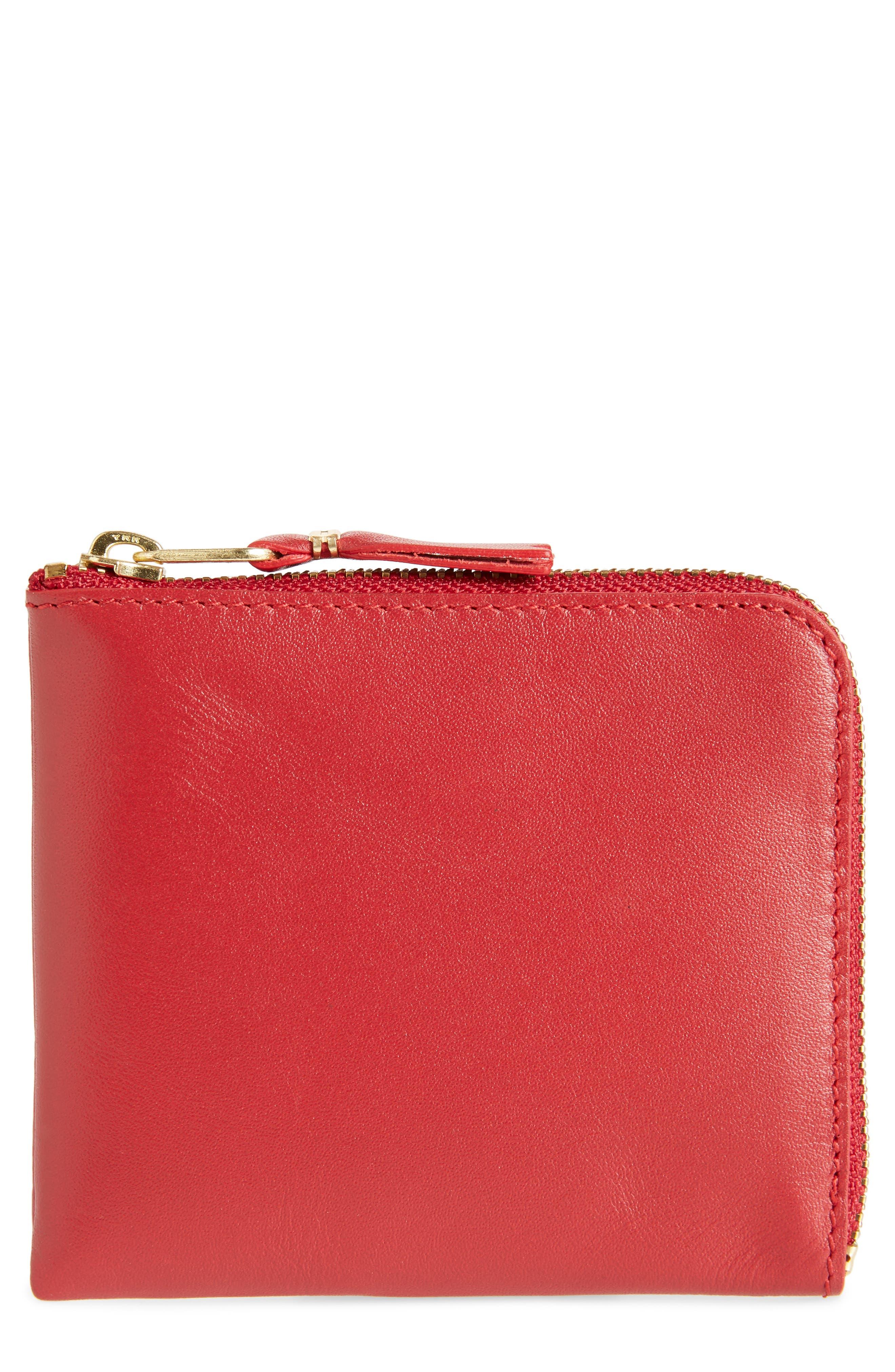 COMME DES GARÇONS,                             Classic Leather Line Wallet,                             Main thumbnail 1, color,                             600