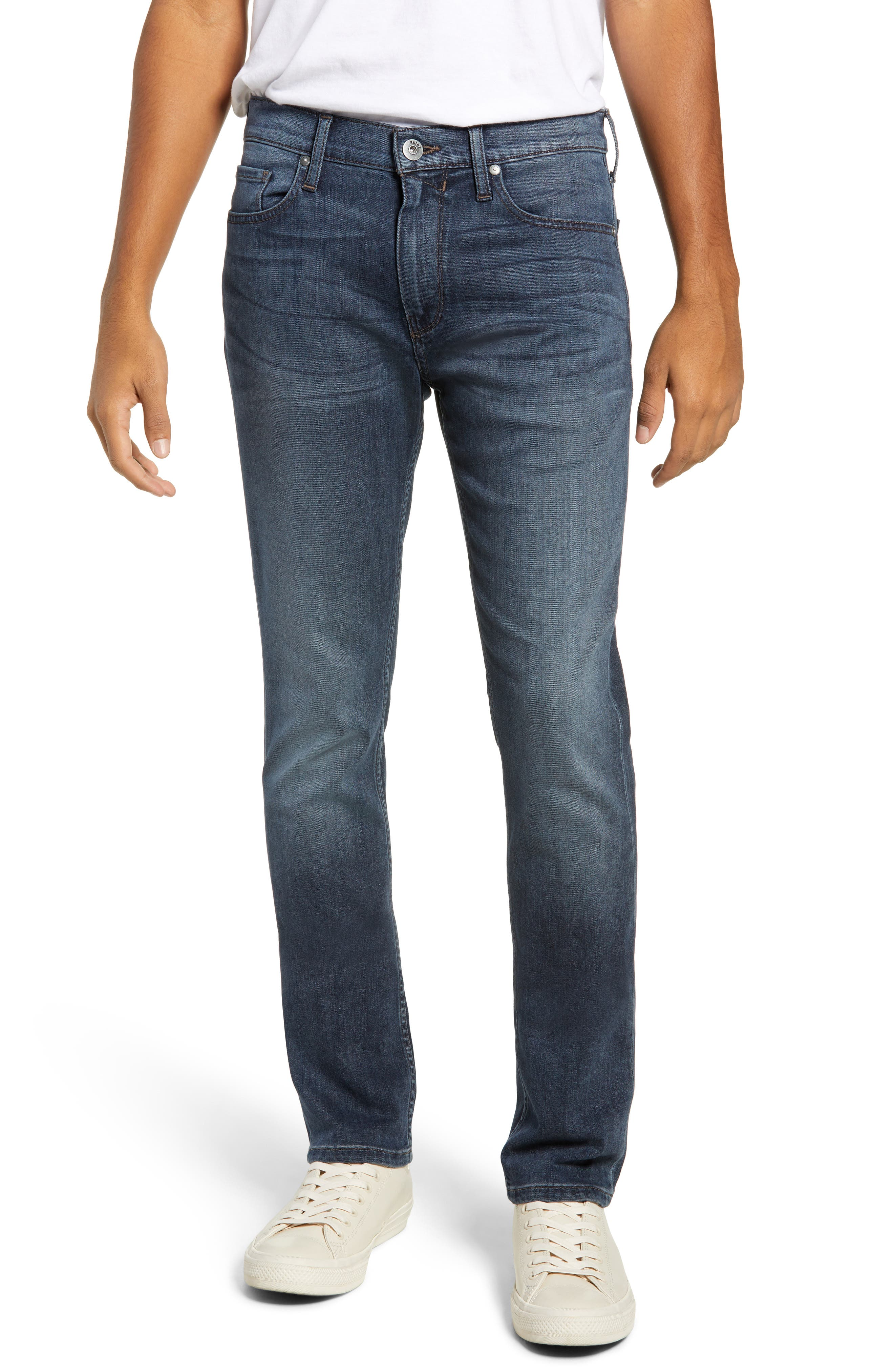 PAIGE Transcend - Federal Slim Straight Leg Jeans, Main, color, GARNER