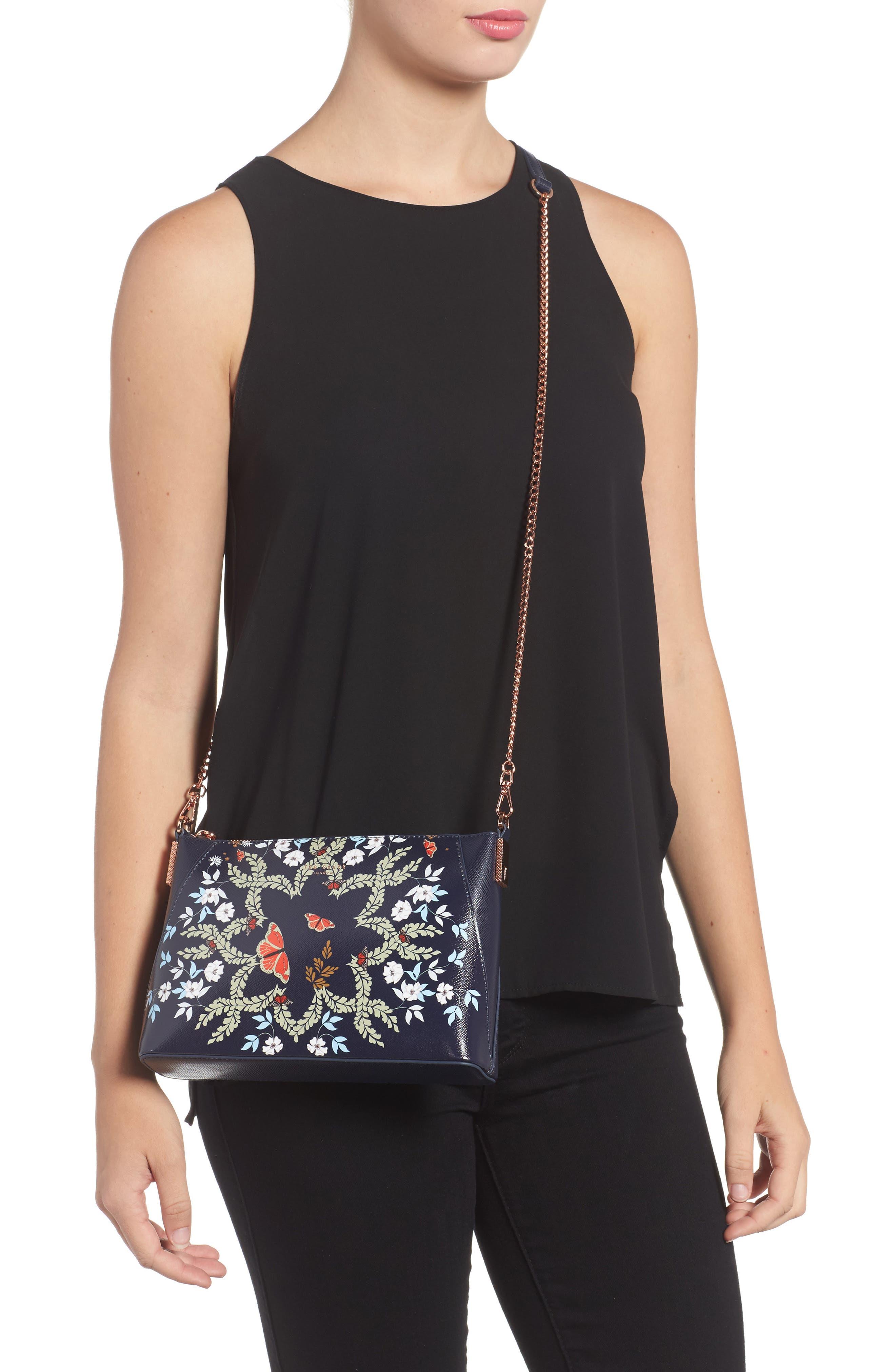 Marisiaa - Kyoto Gardens Leather Crossbody Bag,                             Alternate thumbnail 2, color,                             424