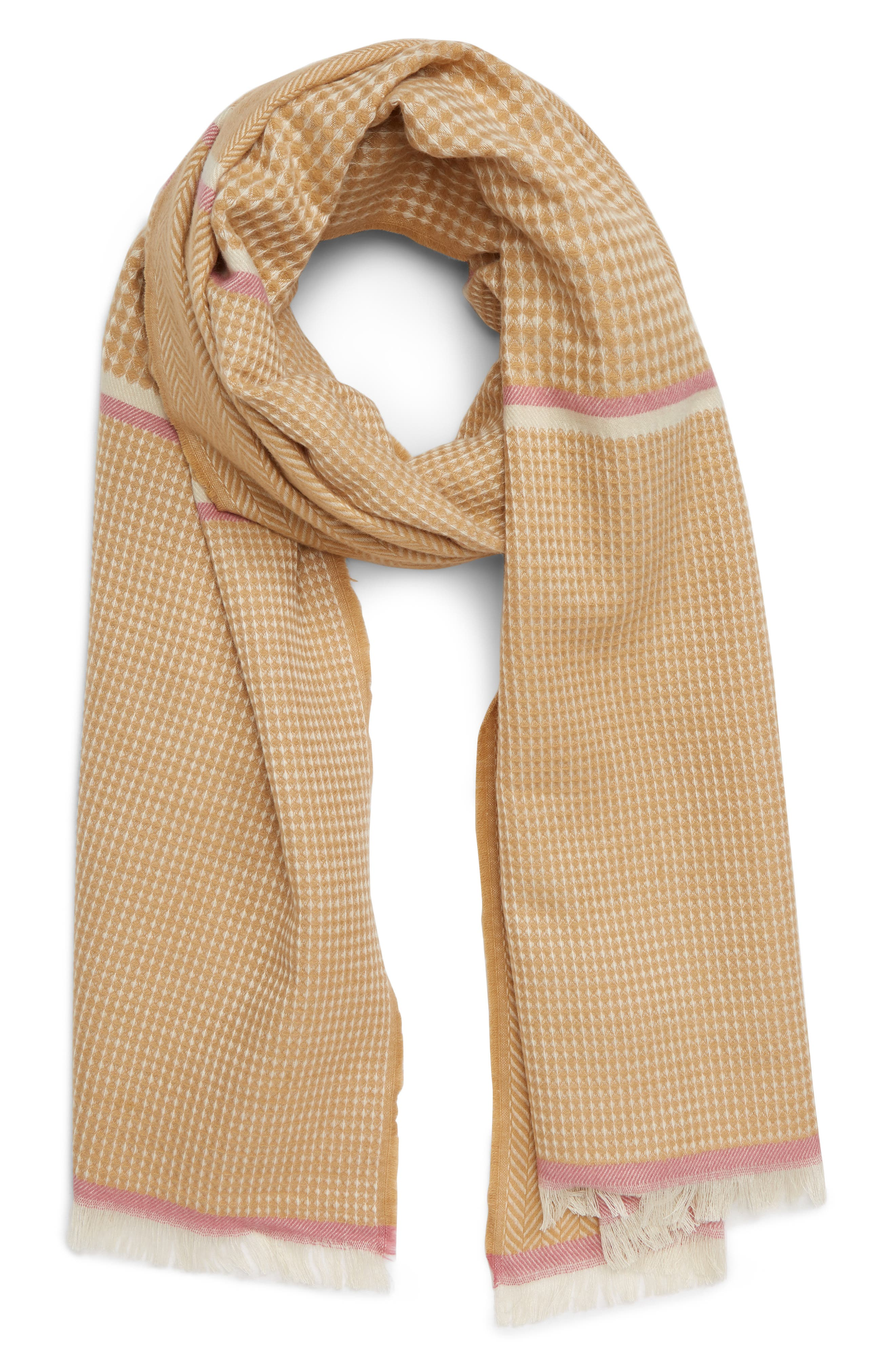 Mixed Weave Stripe Scarf,                             Main thumbnail 1, color,                             250