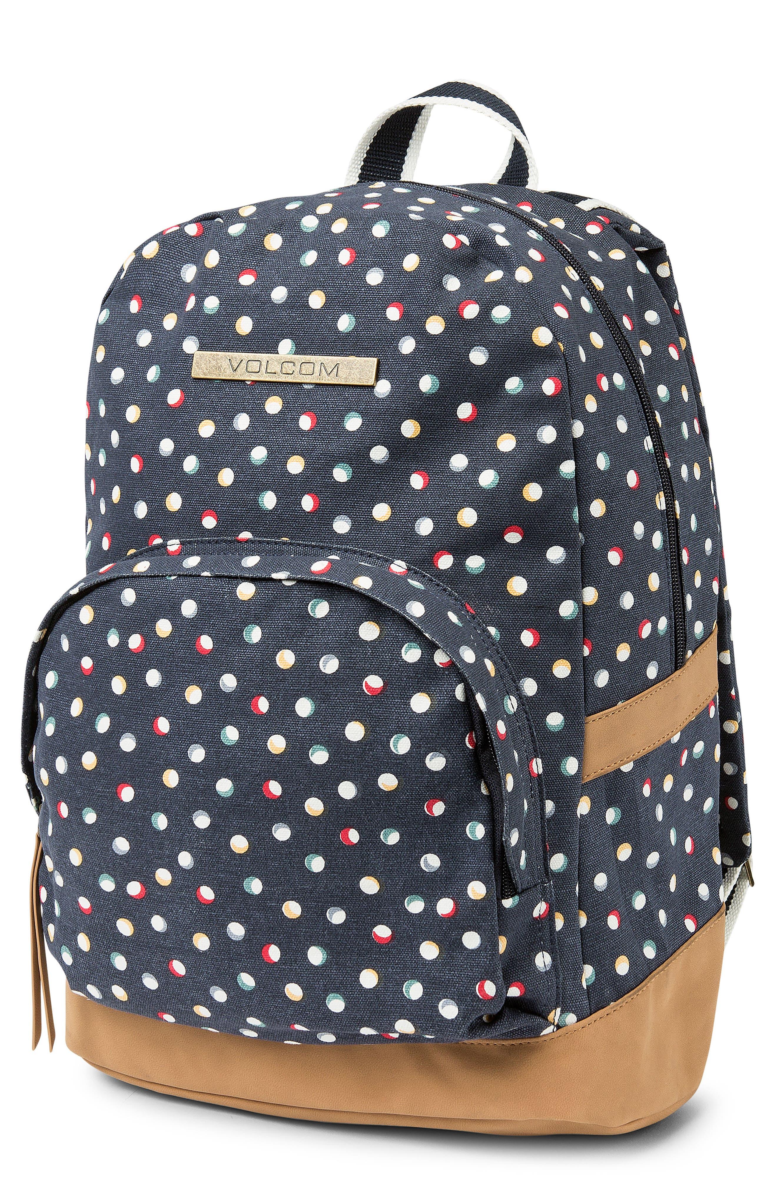 Vacations Canvas Backpack,                             Main thumbnail 1, color,                             SEA NAVY
