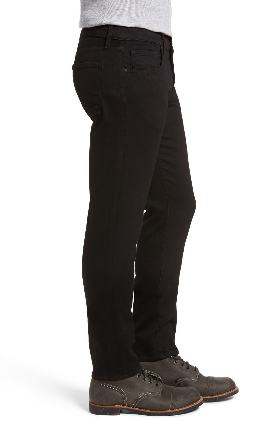 Tyler Slim Fit Jeans,                             Alternate thumbnail 3, color,                             TRIVOR BLACK