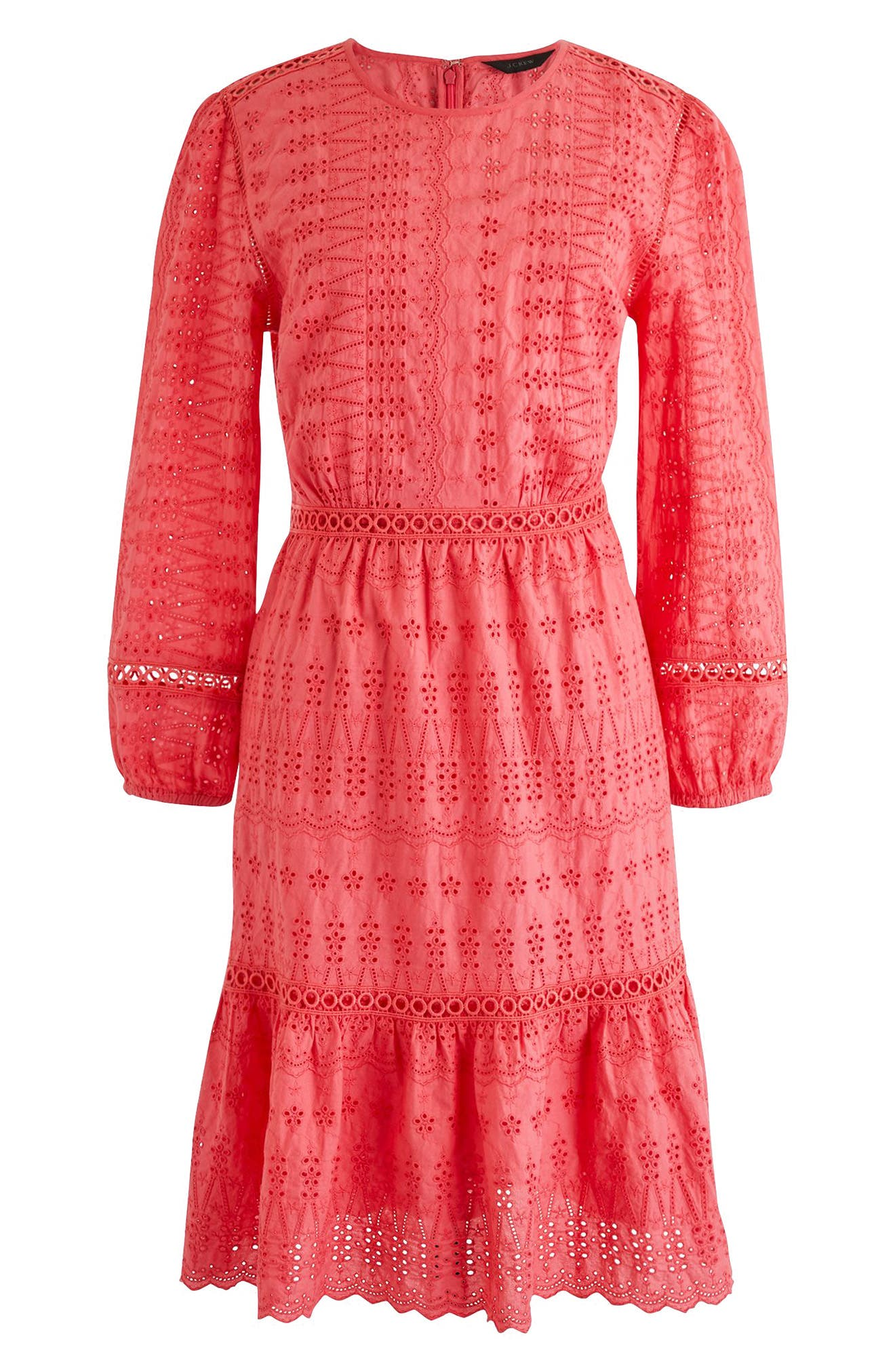 Long Sleeve Embroidered Dress,                             Main thumbnail 4, color,