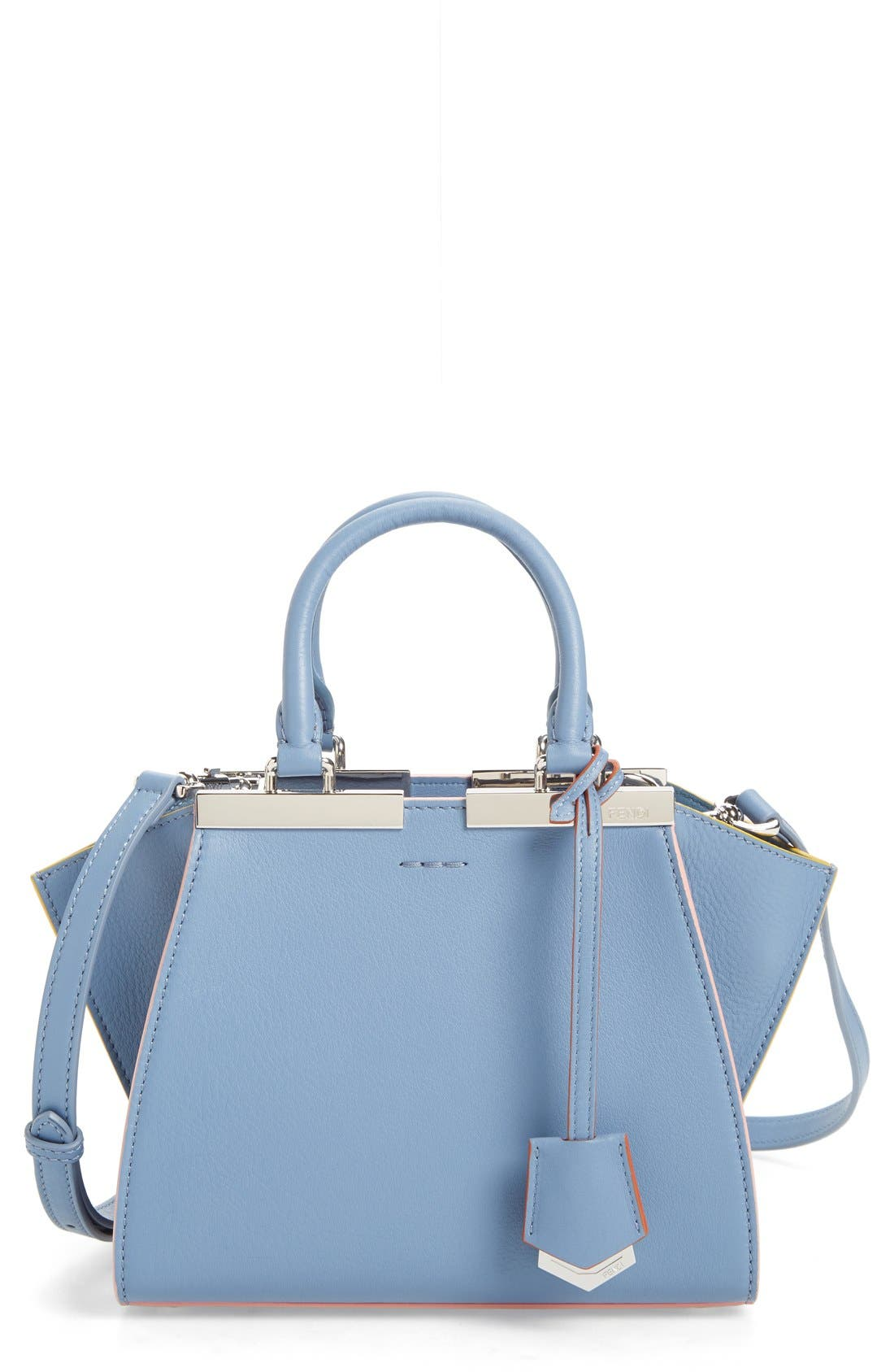 'Mini 3Jours' Calfskin Leather Shopper,                             Main thumbnail 4, color,