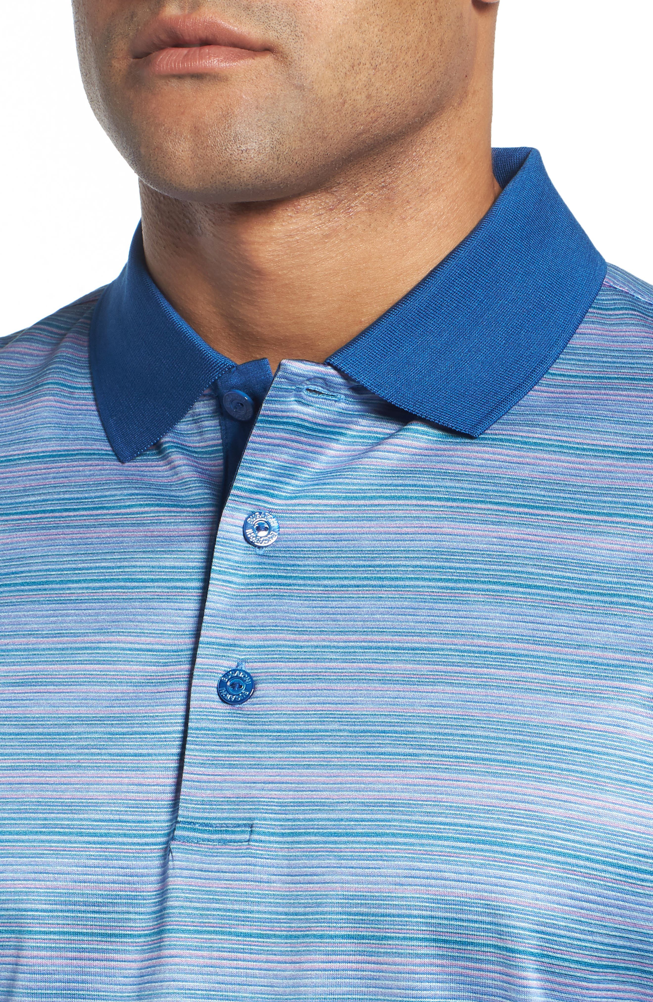 Stripe Mercerized Cotton Polo,                             Alternate thumbnail 4, color,                             513