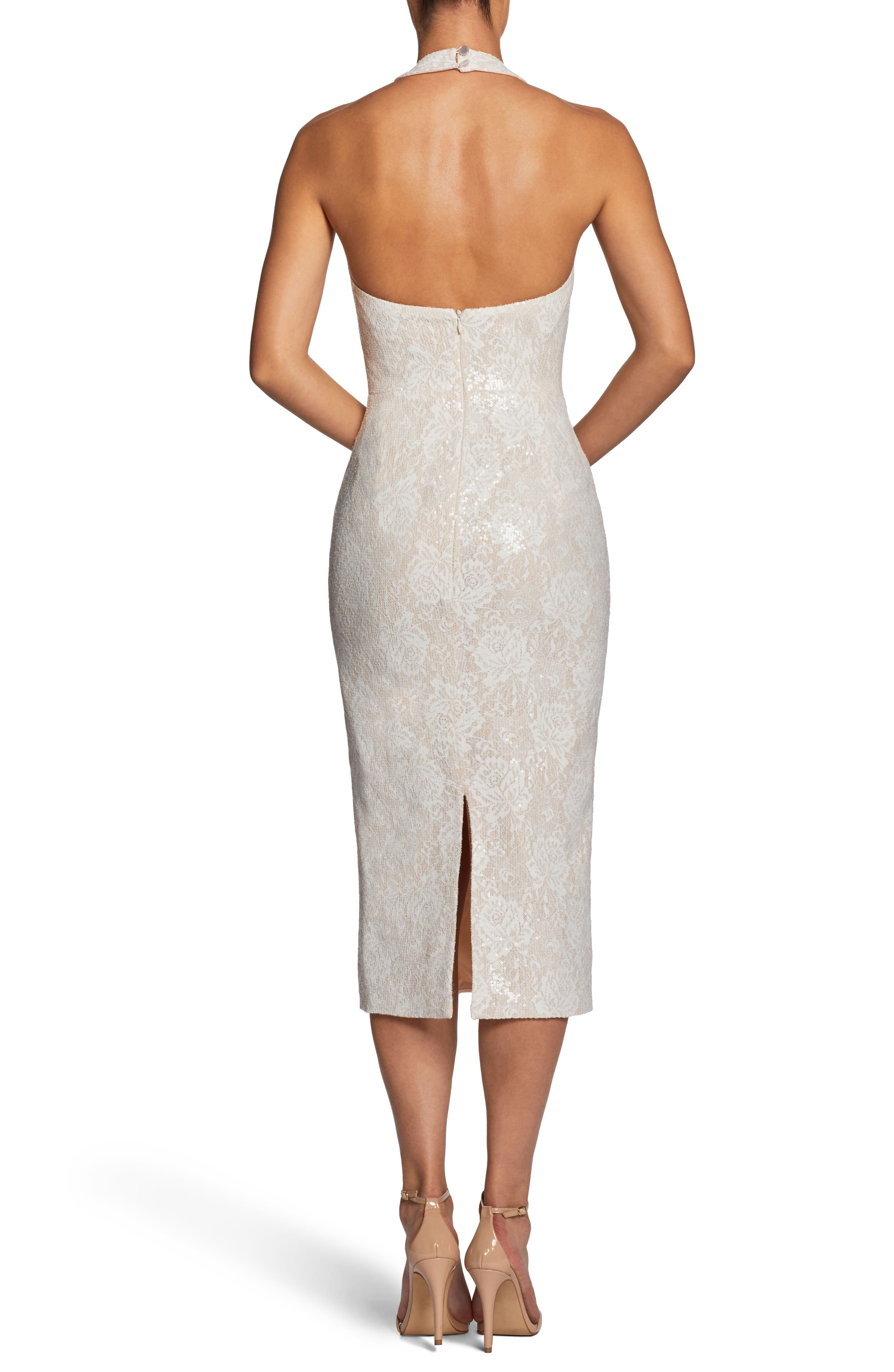 Cassie Halter Sequin Dress,                             Alternate thumbnail 2, color,                             154