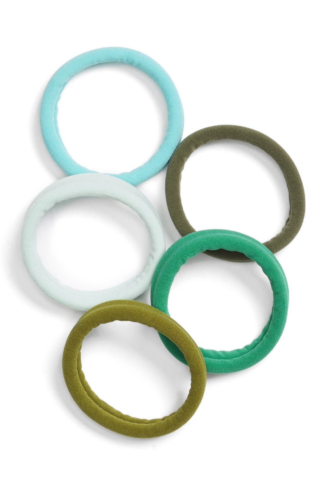 Set of 5 Sport Ponytail Holders,                             Main thumbnail 9, color,