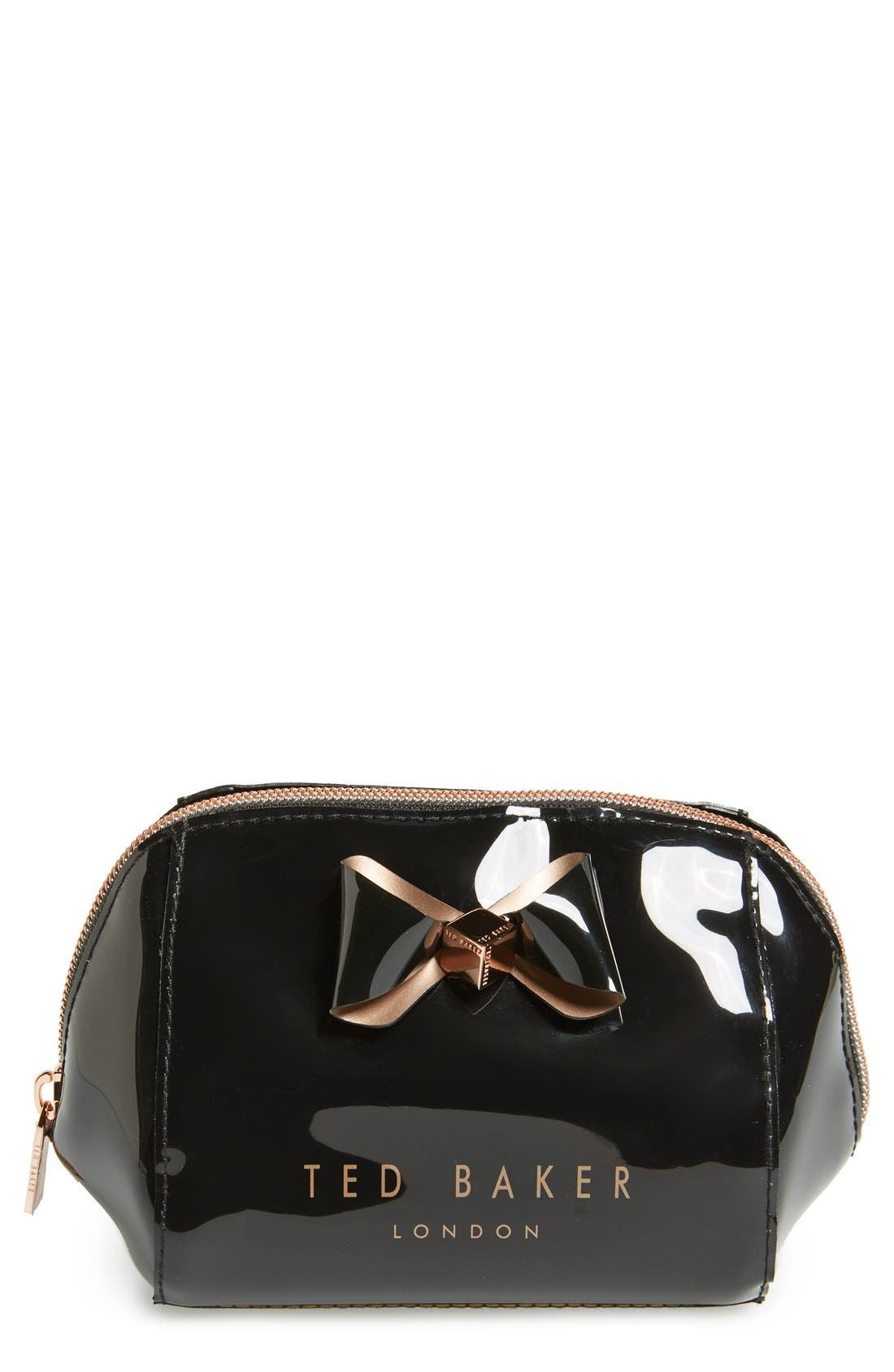 'Bow Trapeze - Small Washbag' Cosmetics Case,                         Main,                         color,
