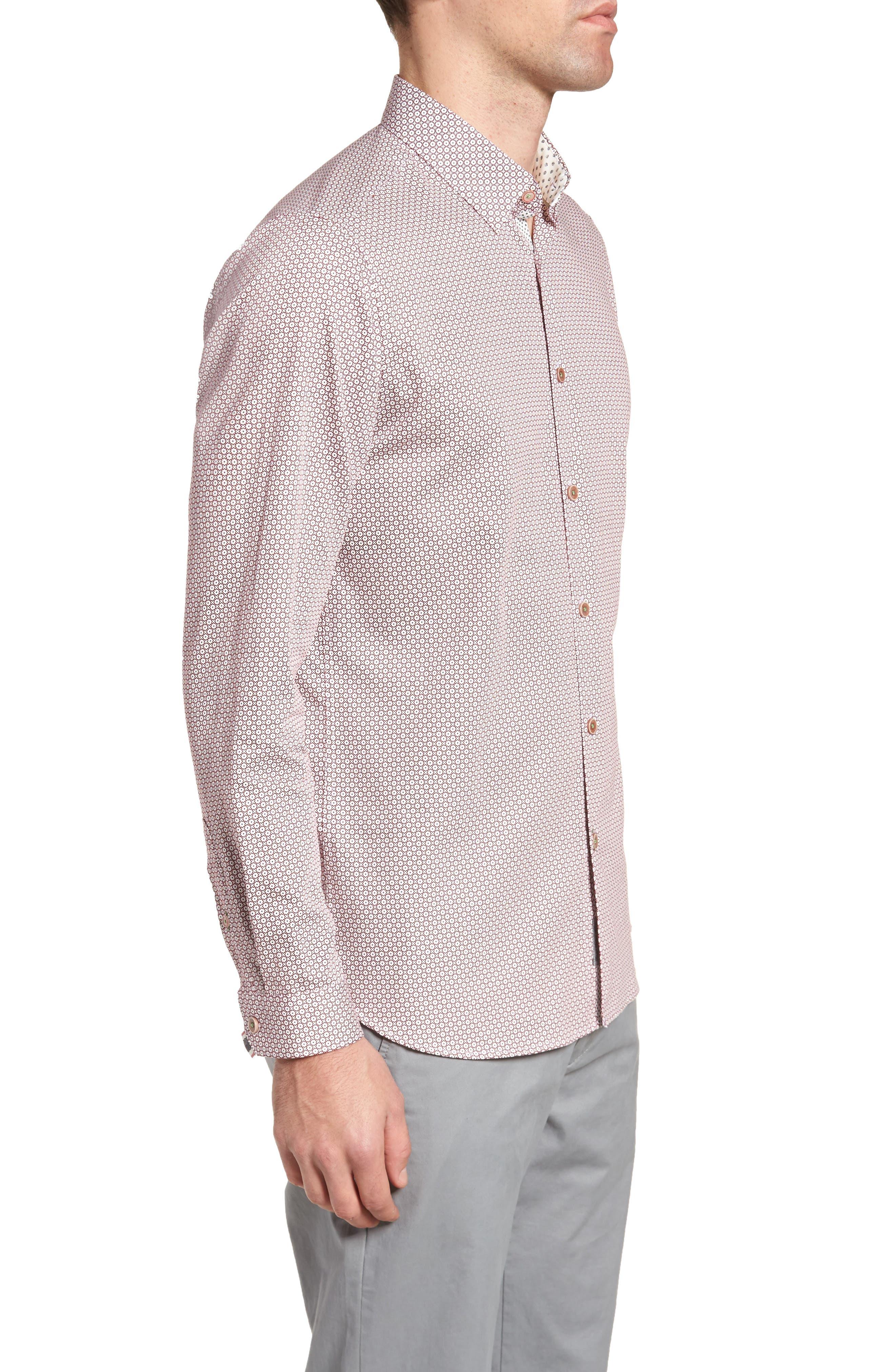 Holic Trim Fit Geometric Sport Shirt,                             Alternate thumbnail 6, color,
