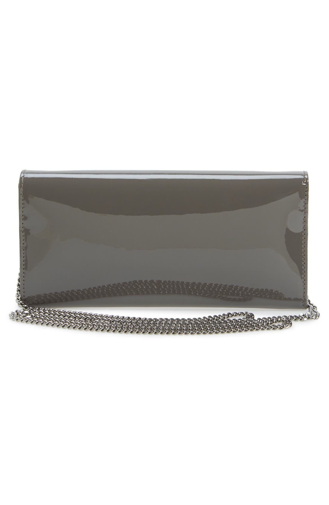 'Milla' Patent Leather Wallet on a Chain,                             Alternate thumbnail 11, color,