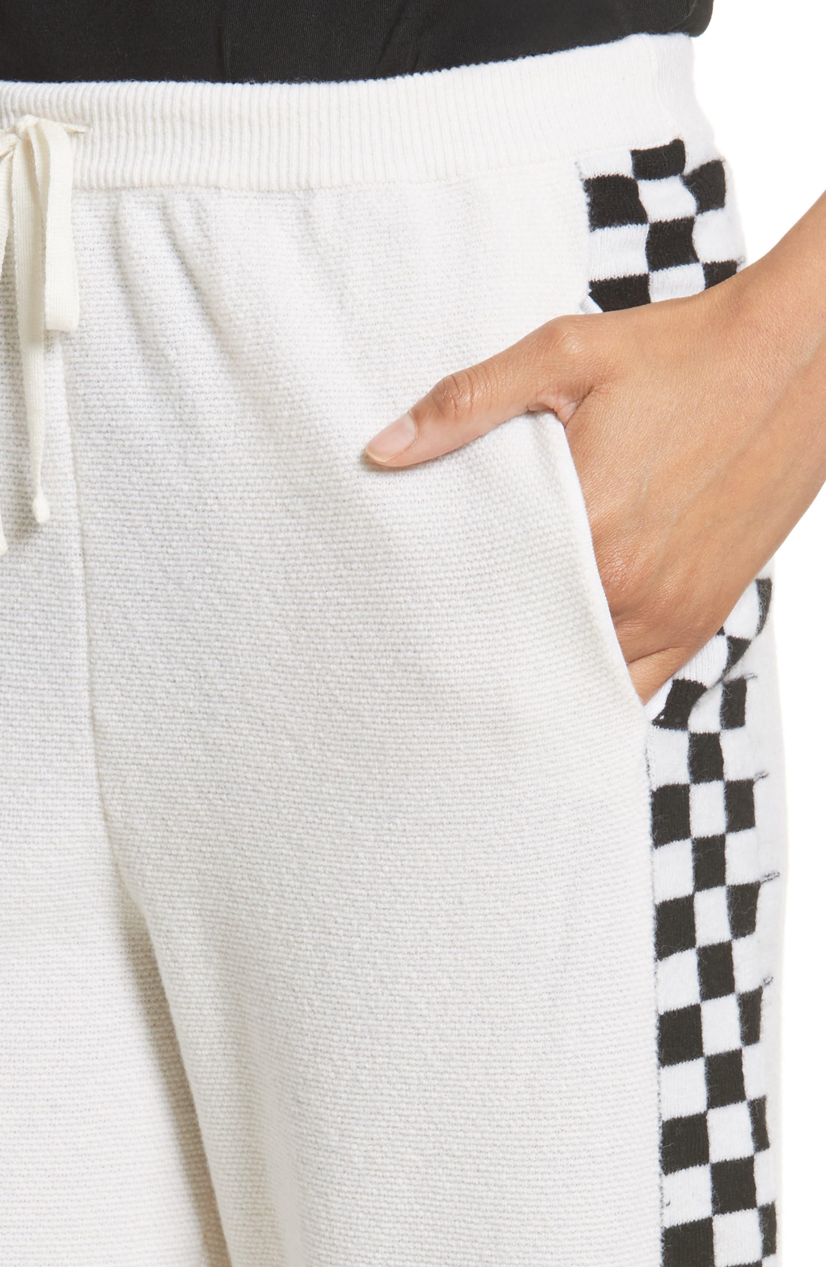 Check Stripe Wool Joggers,                             Alternate thumbnail 4, color,                             900