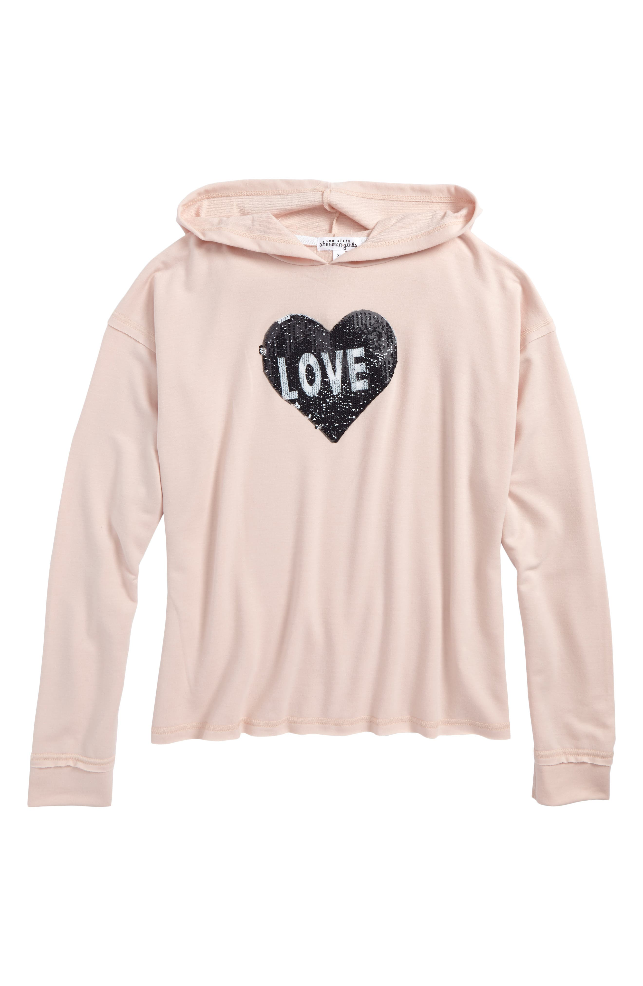 Love Ya Heart Flipper Hoodie,                         Main,                         color, 650