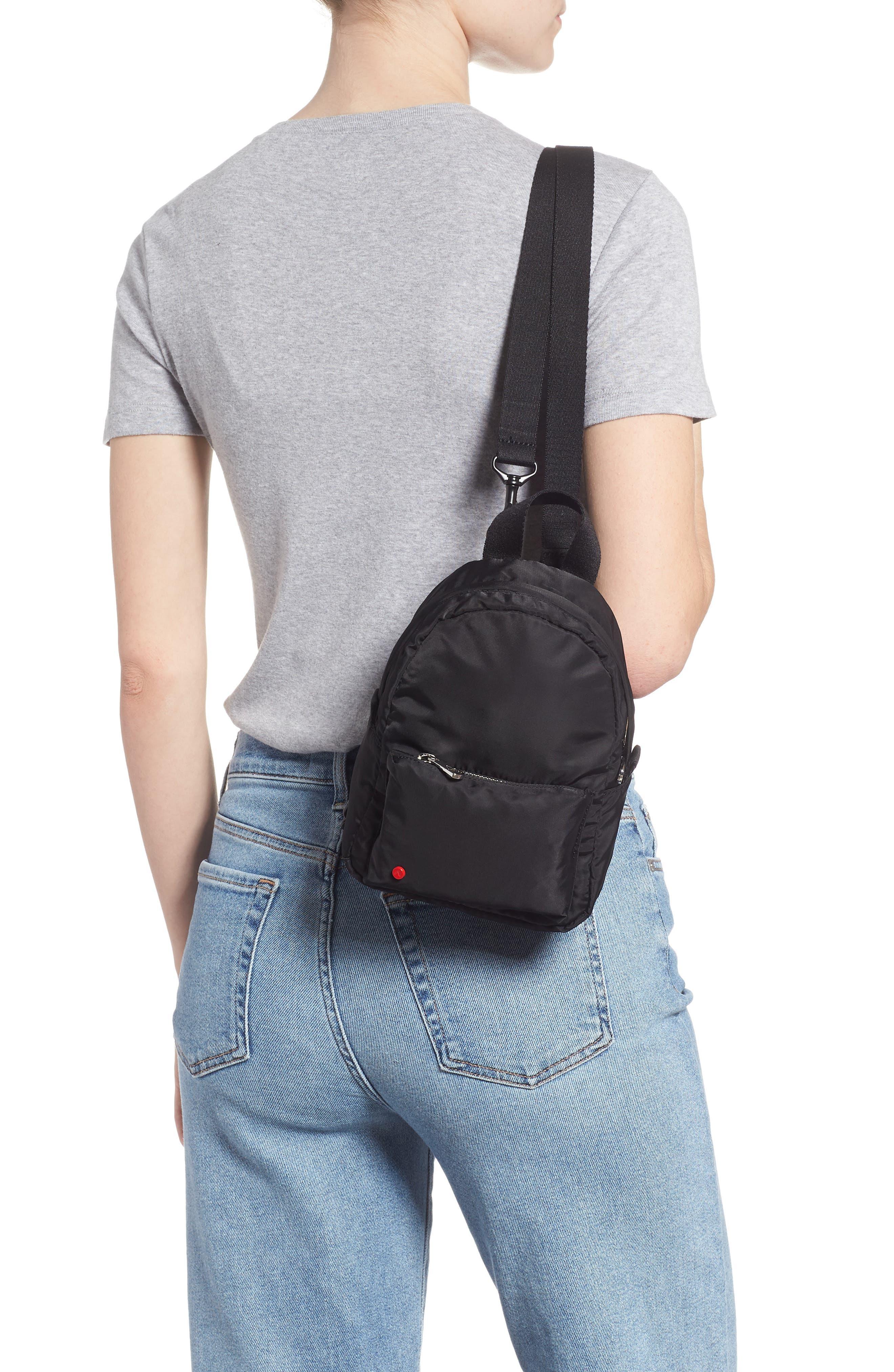 Mini Hart Convertible Nylon Backpack,                             Alternate thumbnail 2, color,                             BLACK